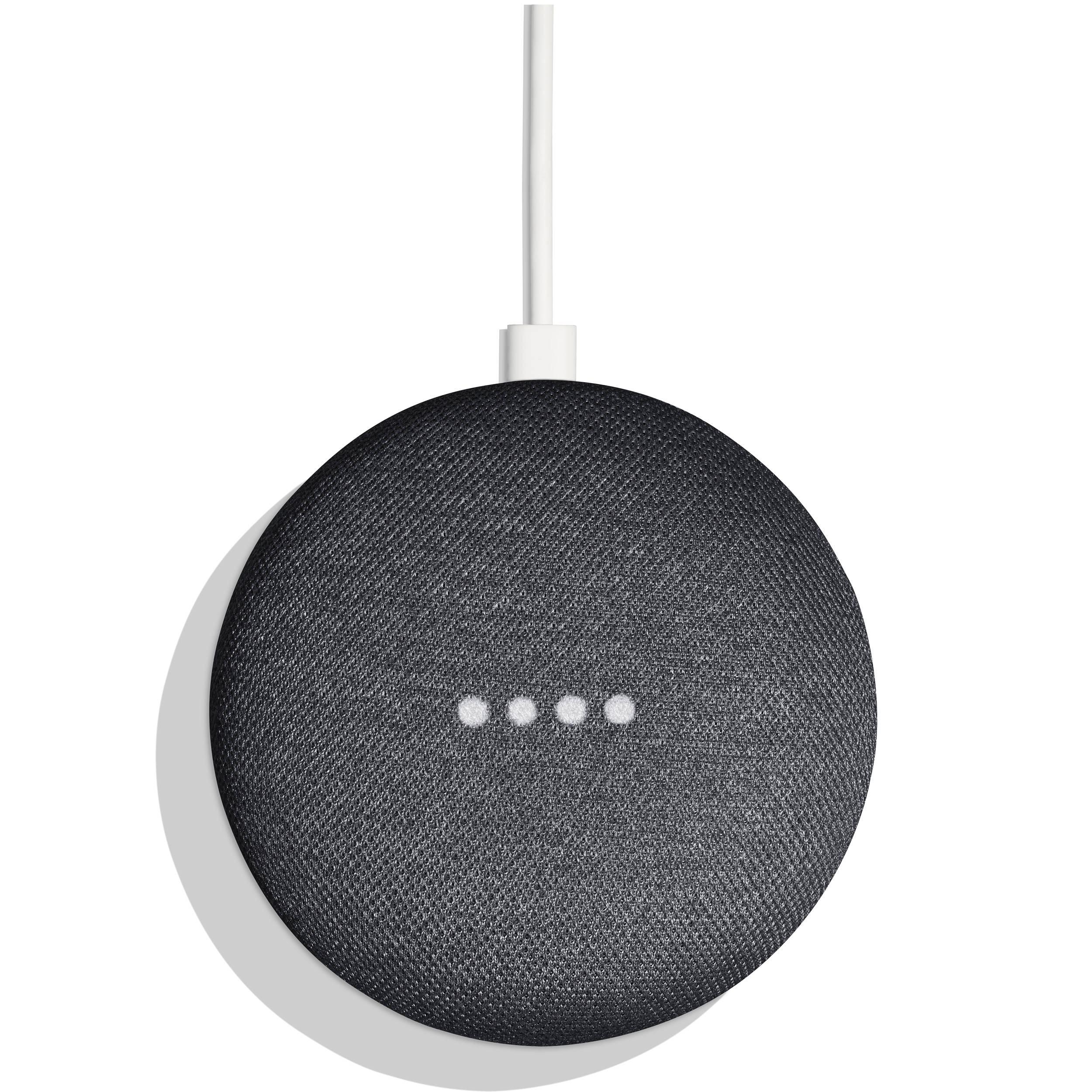 Google home mini charcoal ga00216 us b h photo video for Google home mini