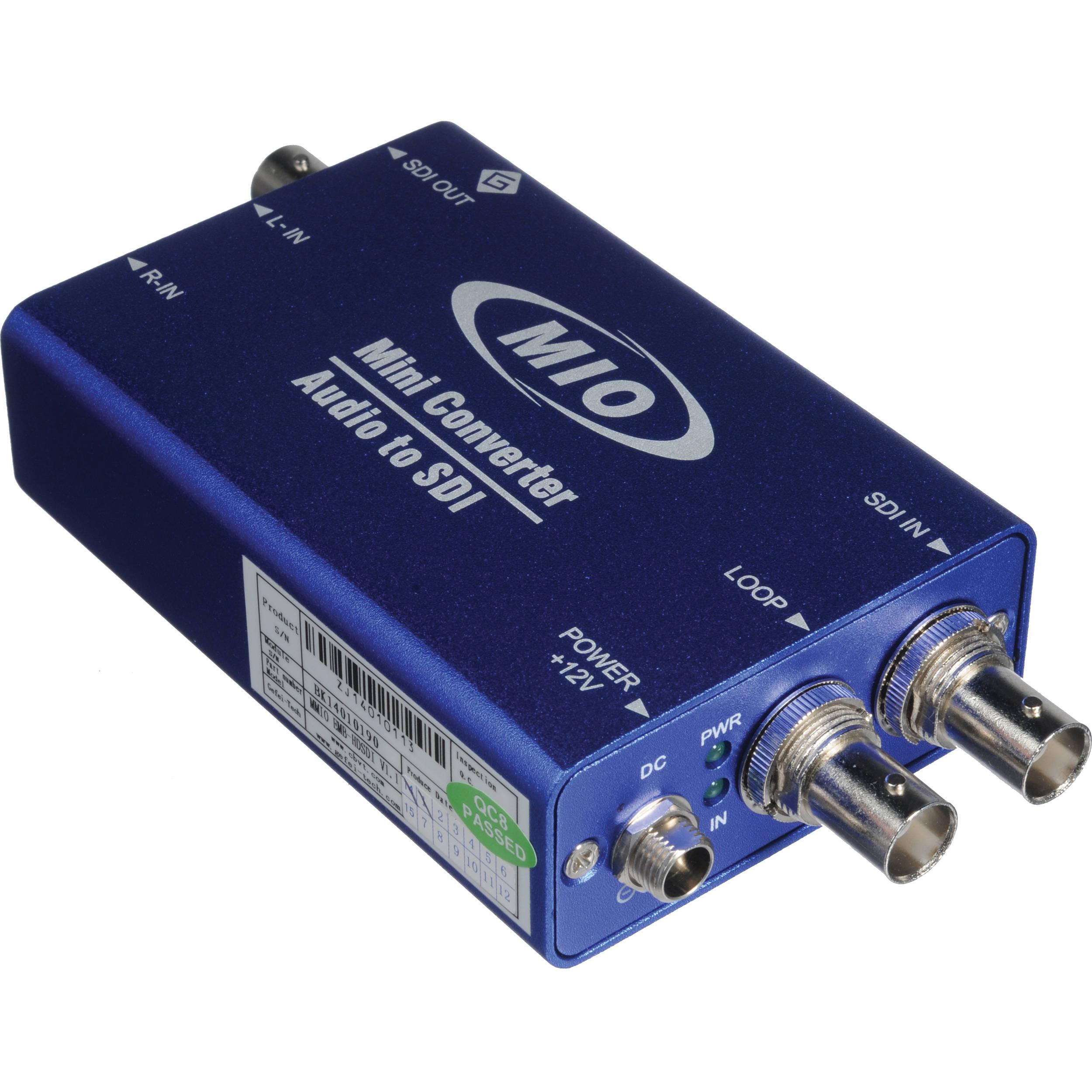Gra Vue Sdi Stereo Analog Audio Embedder Mmio Emb Hdsdi Bh Current Relay