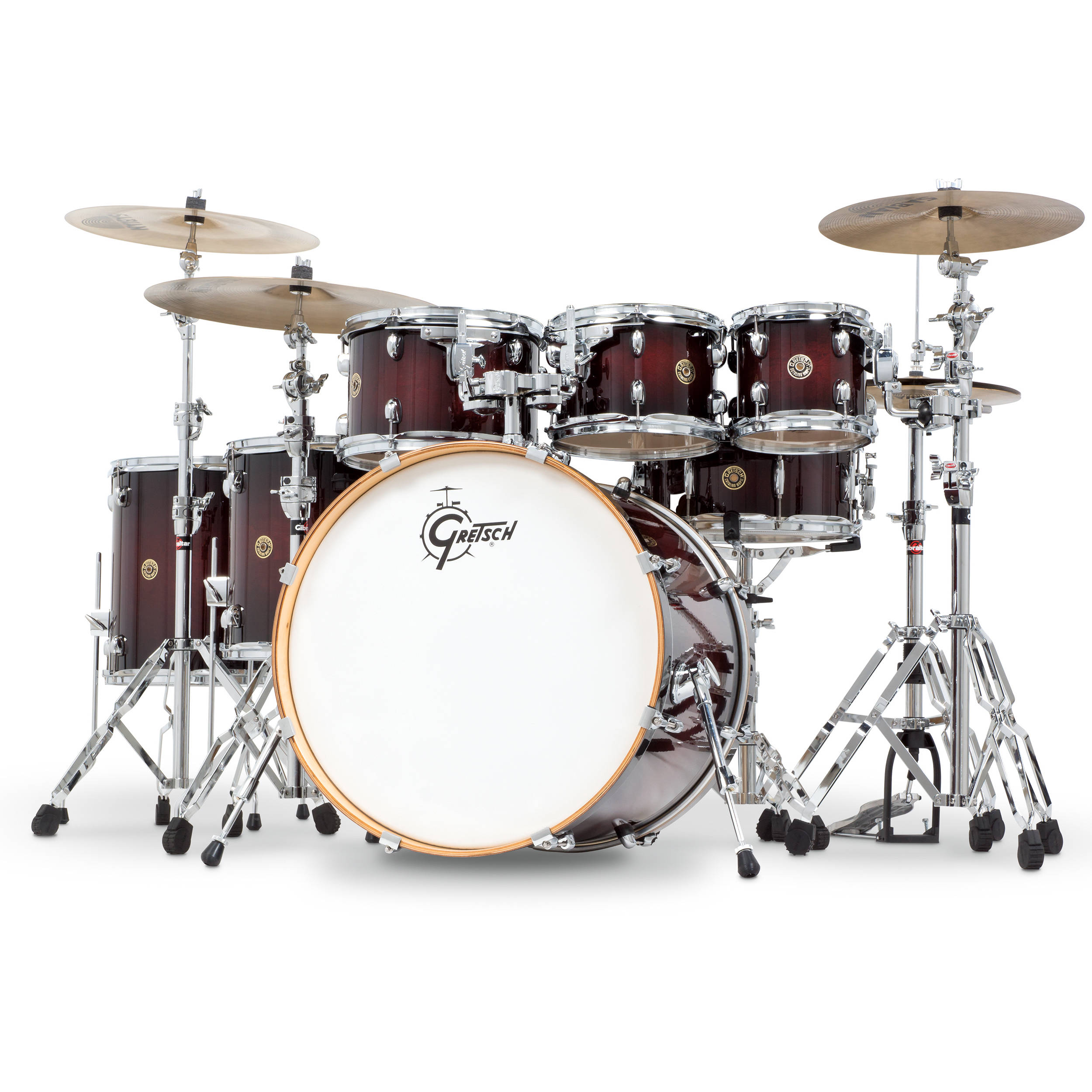 Gretsch Drums Catalina Maple Series 6 Piece Drum Kit With 22 Bass
