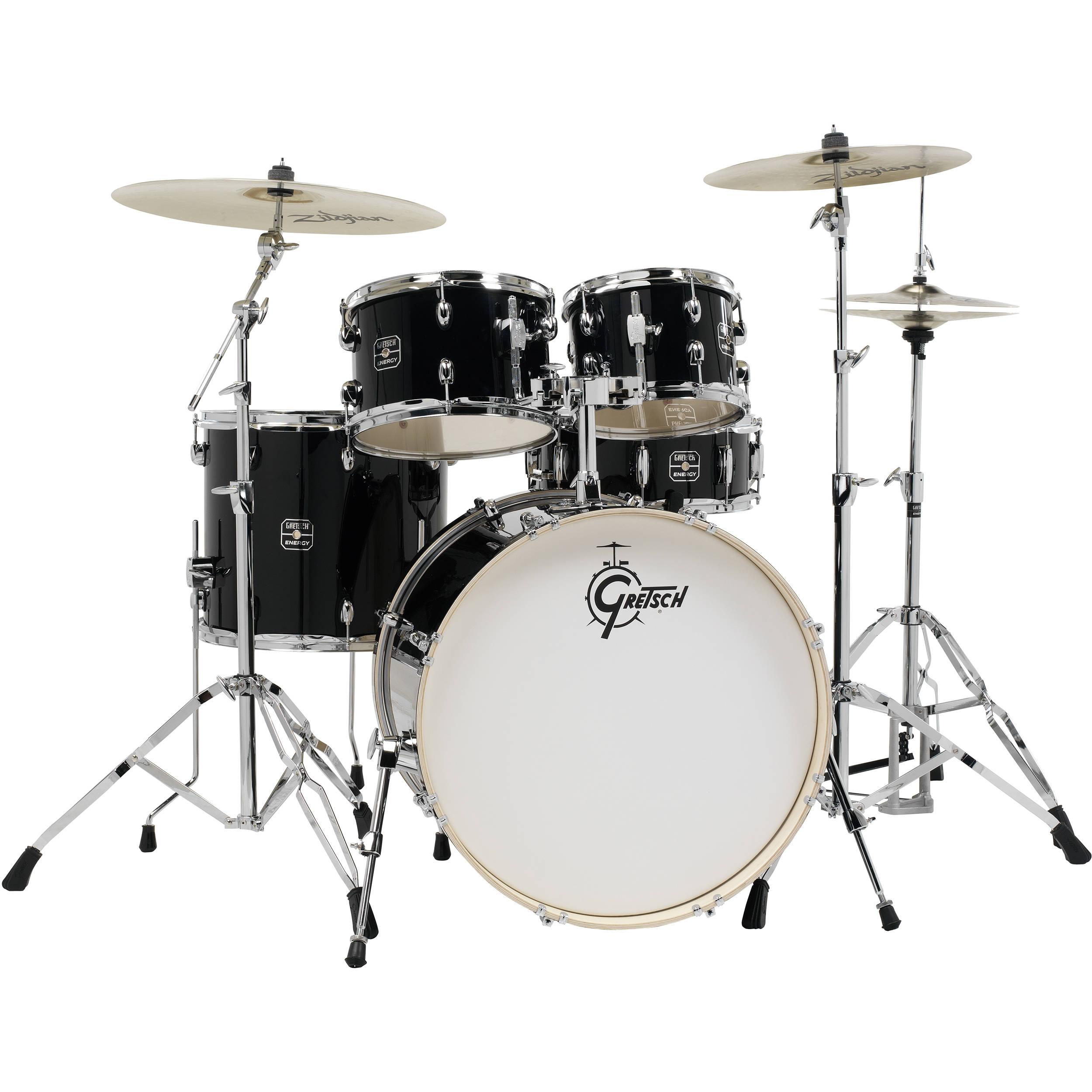 gretsch drums energy series 5 piece drum set ge4e825zb b h photo. Black Bedroom Furniture Sets. Home Design Ideas