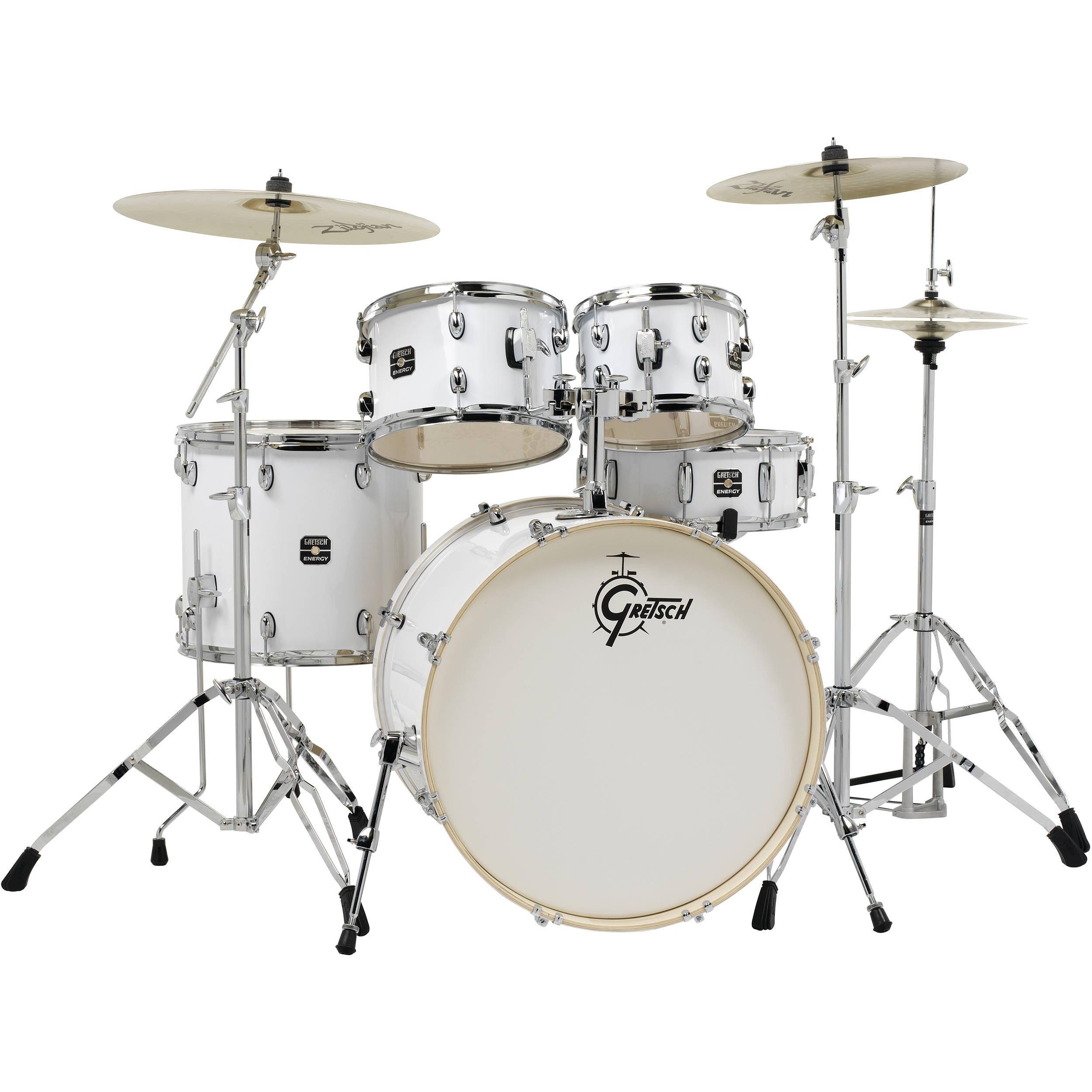 gretsch drums energy series 5 piece drum set ge4e825zw b h photo. Black Bedroom Furniture Sets. Home Design Ideas