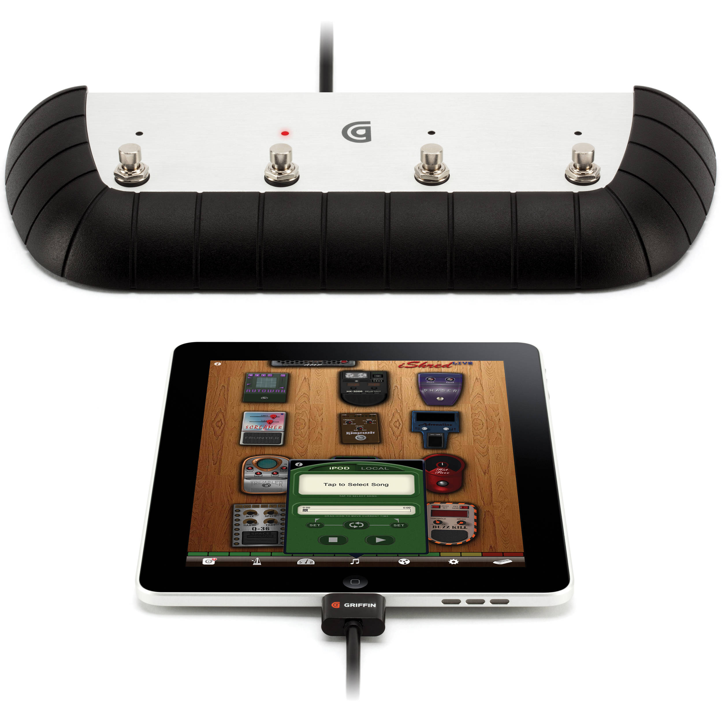 t c electronic how to connect ipad to pedal