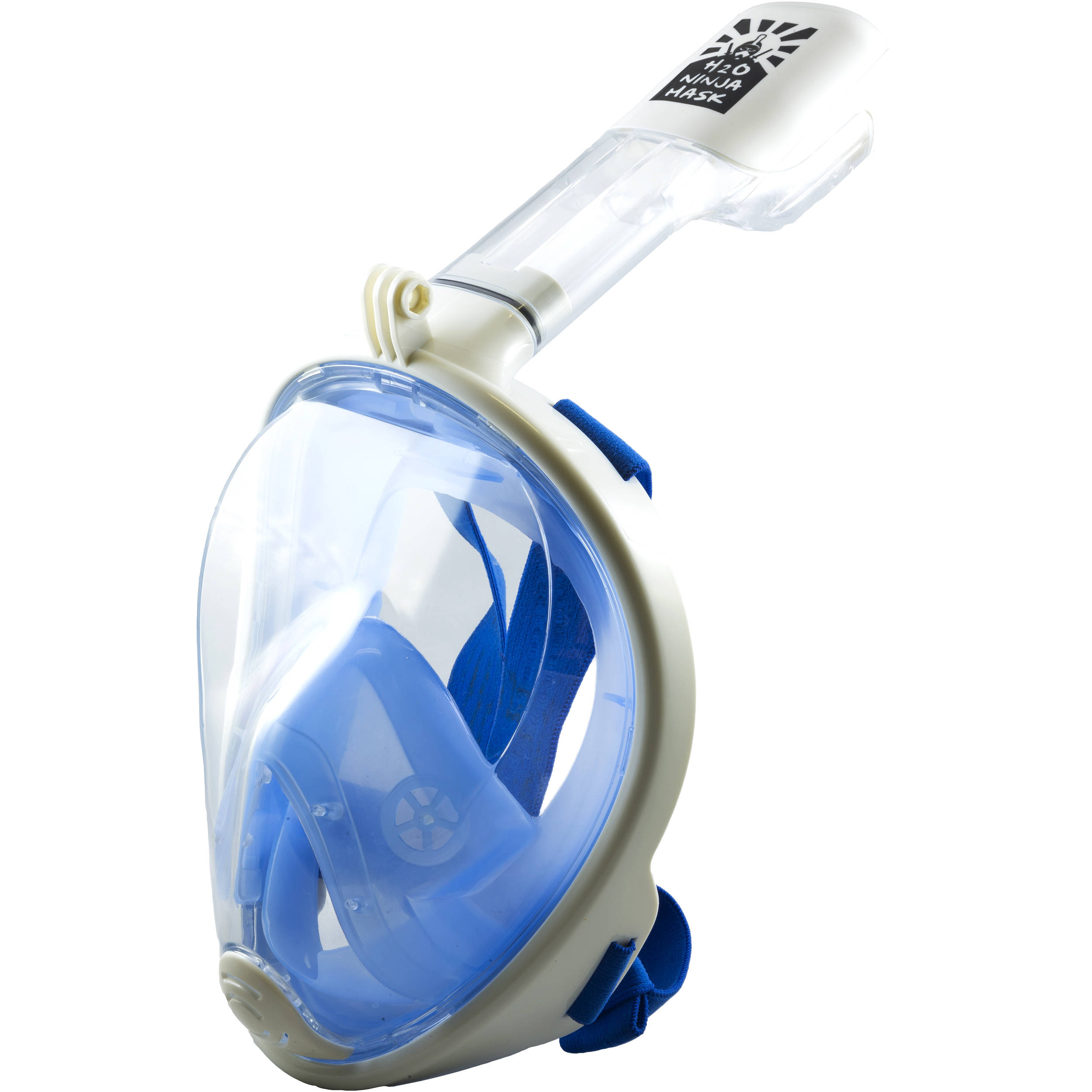 cc246ccd220c H2O Ninja Full Face Snorkeling Mask GoPro Edition BLUE GOPRO S M