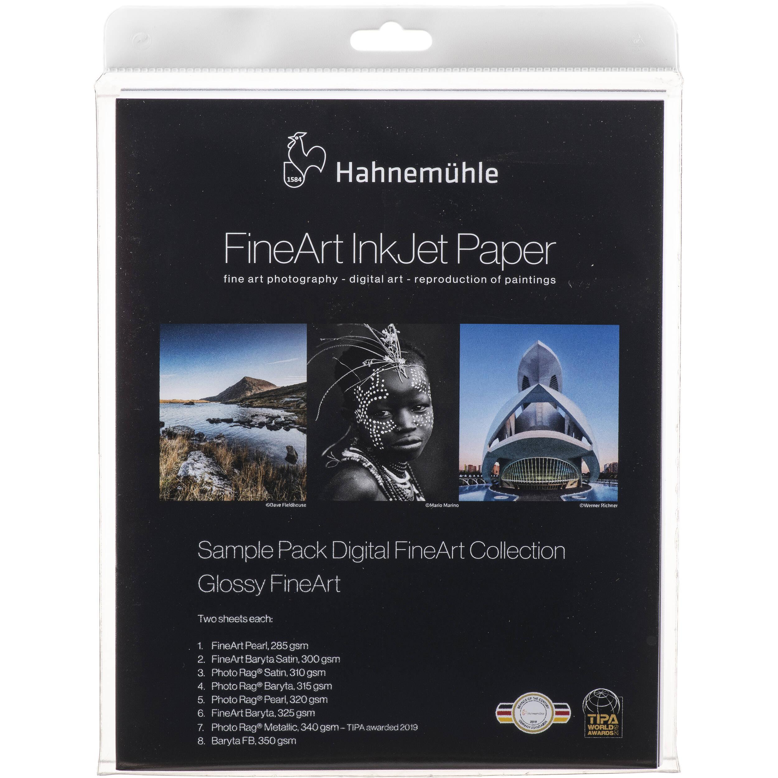 Hahnemühle FineArt Glossy Inkjet Paper Sample Pack 11640308 B&H