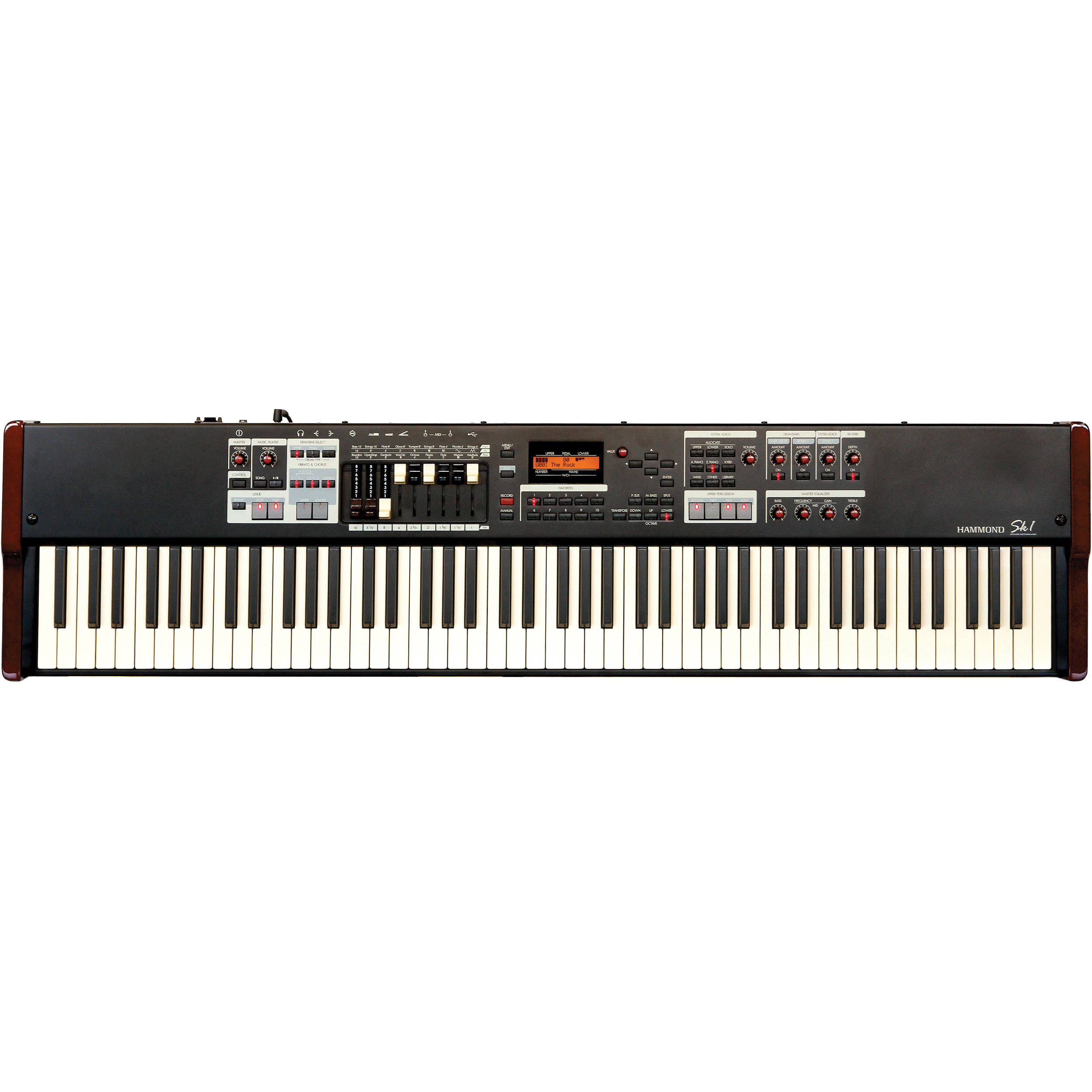 hammond sk1 88 portable hammond organ and stage keyboard burgundy black. Black Bedroom Furniture Sets. Home Design Ideas