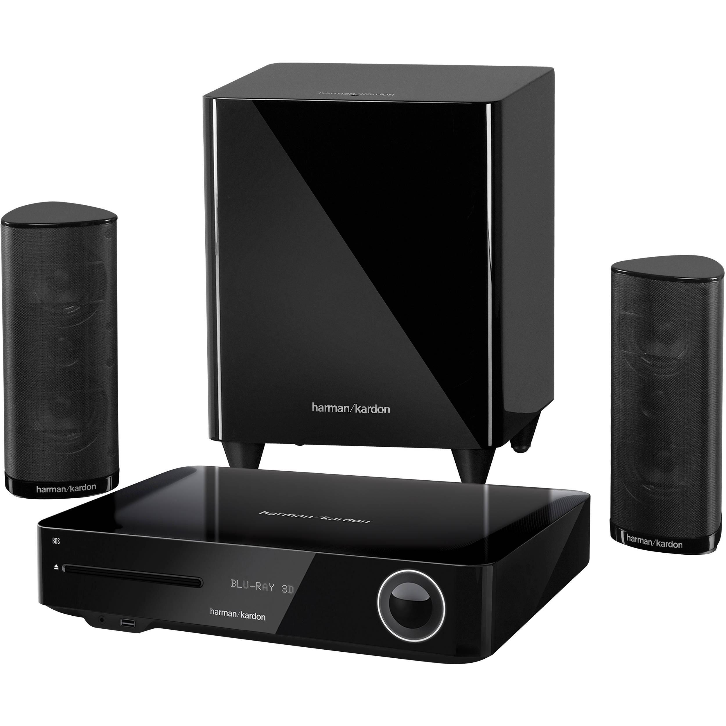 harman kardon bds 380 high performance 2 1 channel bds 380 b h. Black Bedroom Furniture Sets. Home Design Ideas