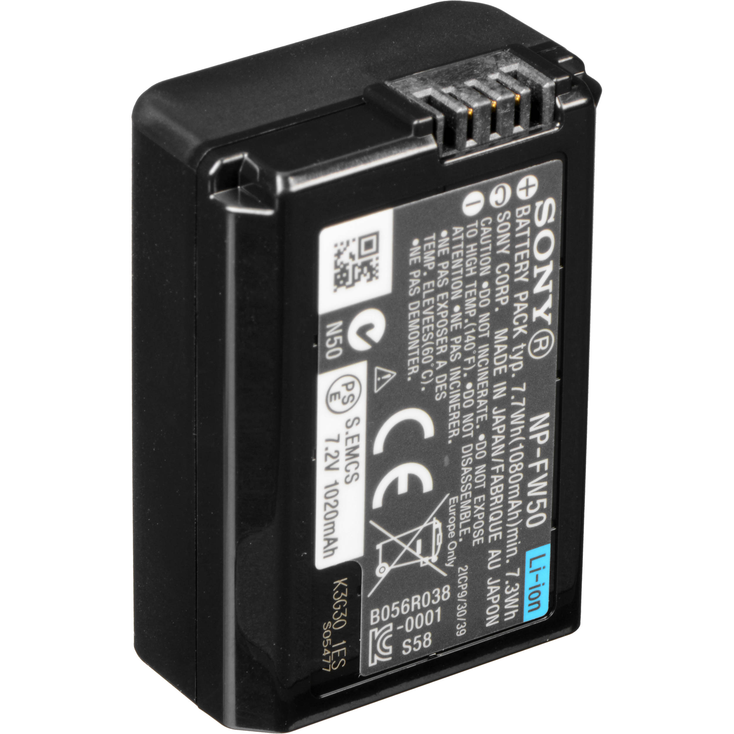 Sony lithium ion camera battery