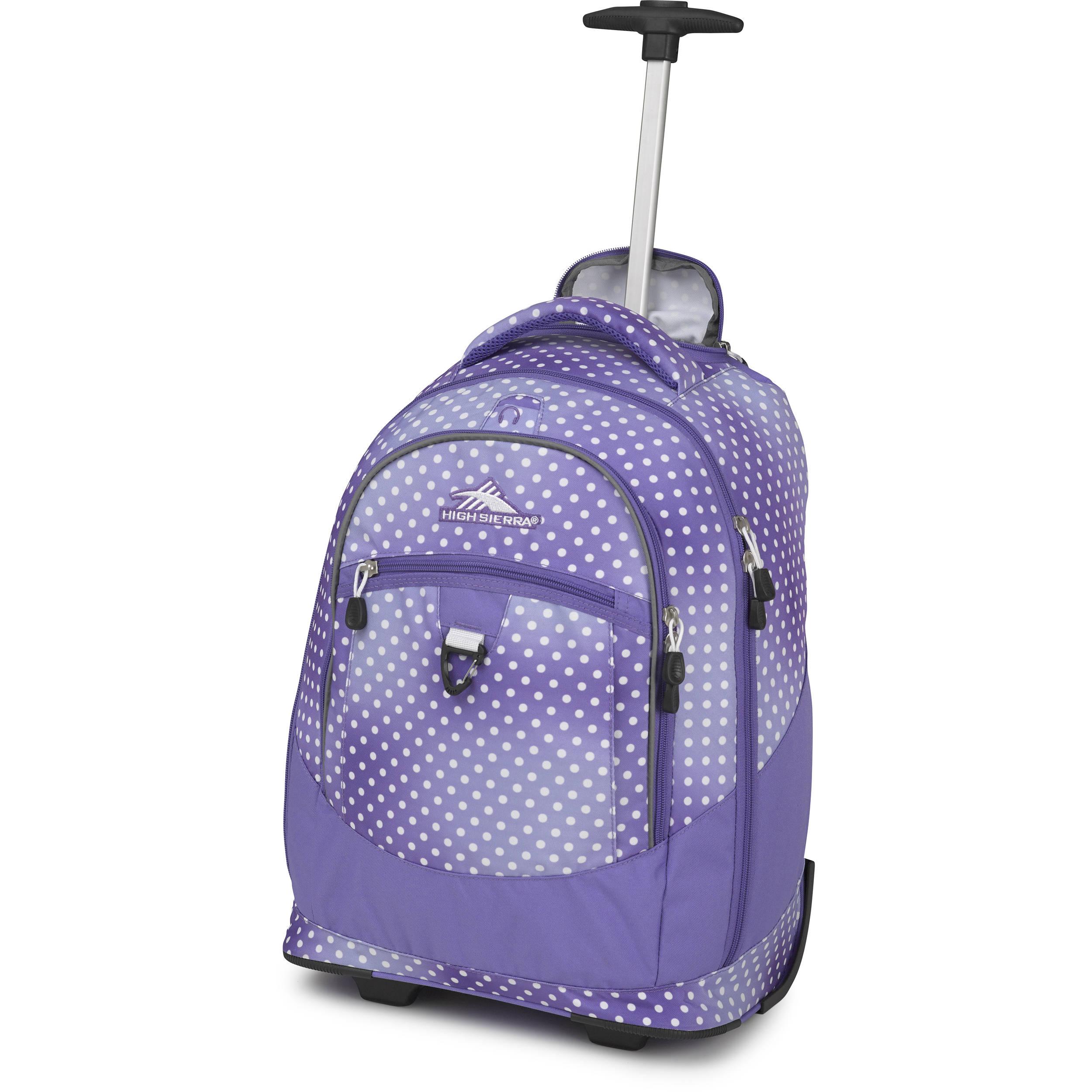 High Sierra Chaser Wheeled Backpack Sprinkle Dots Lavender