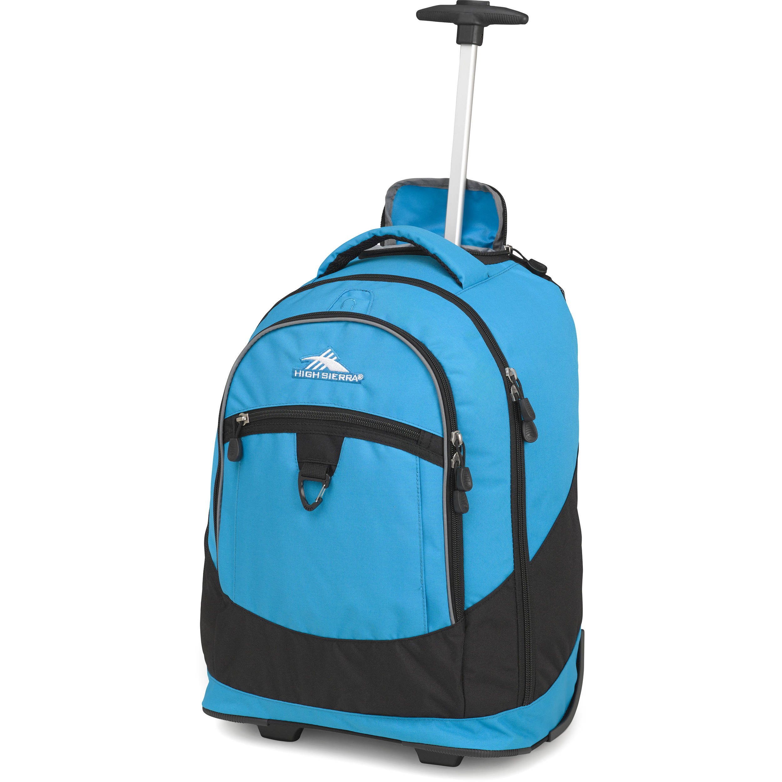 High Sierra Chaser Wheeled Backpack Pool Black