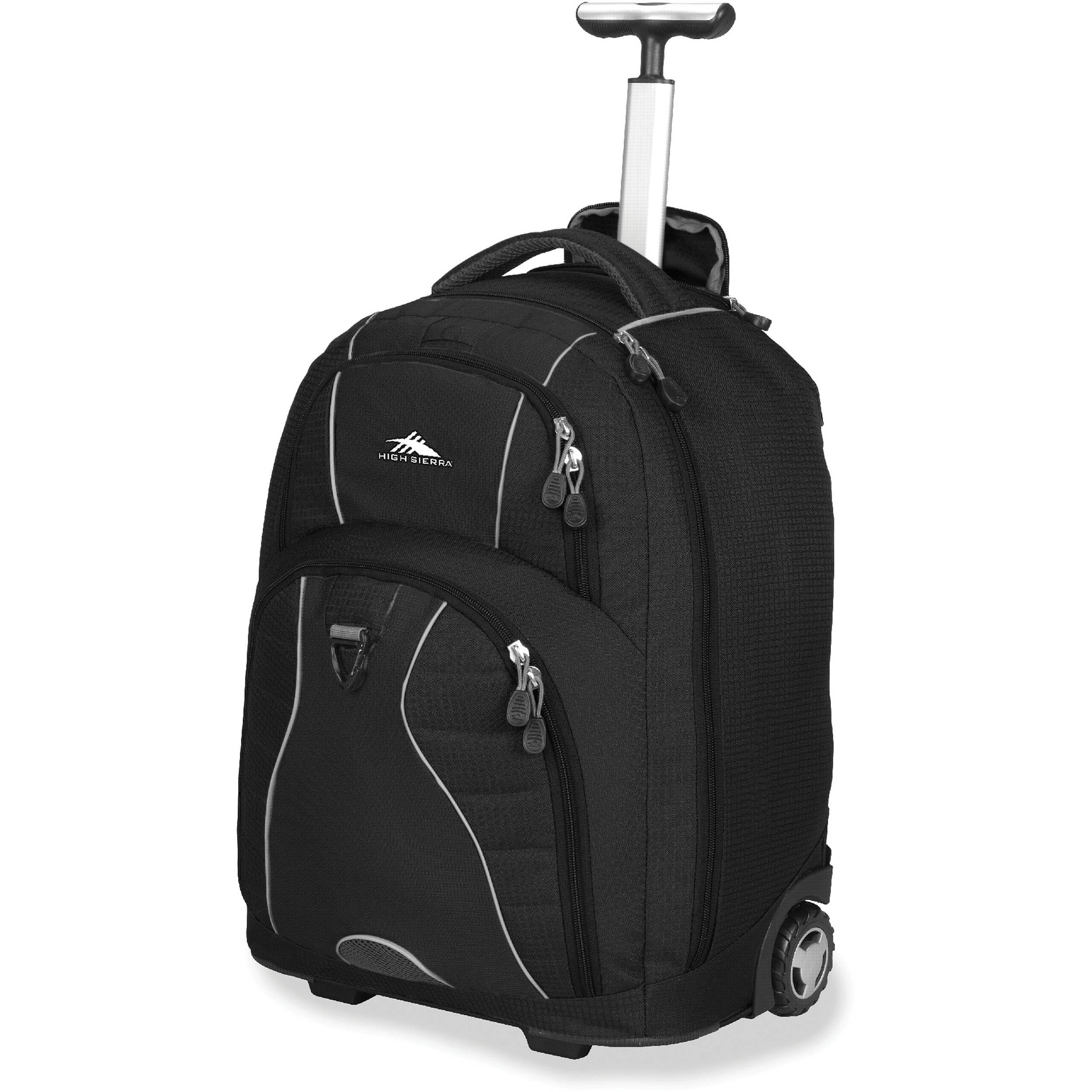 Sierra Freewheel Wheeled Backpack (Black / Black)