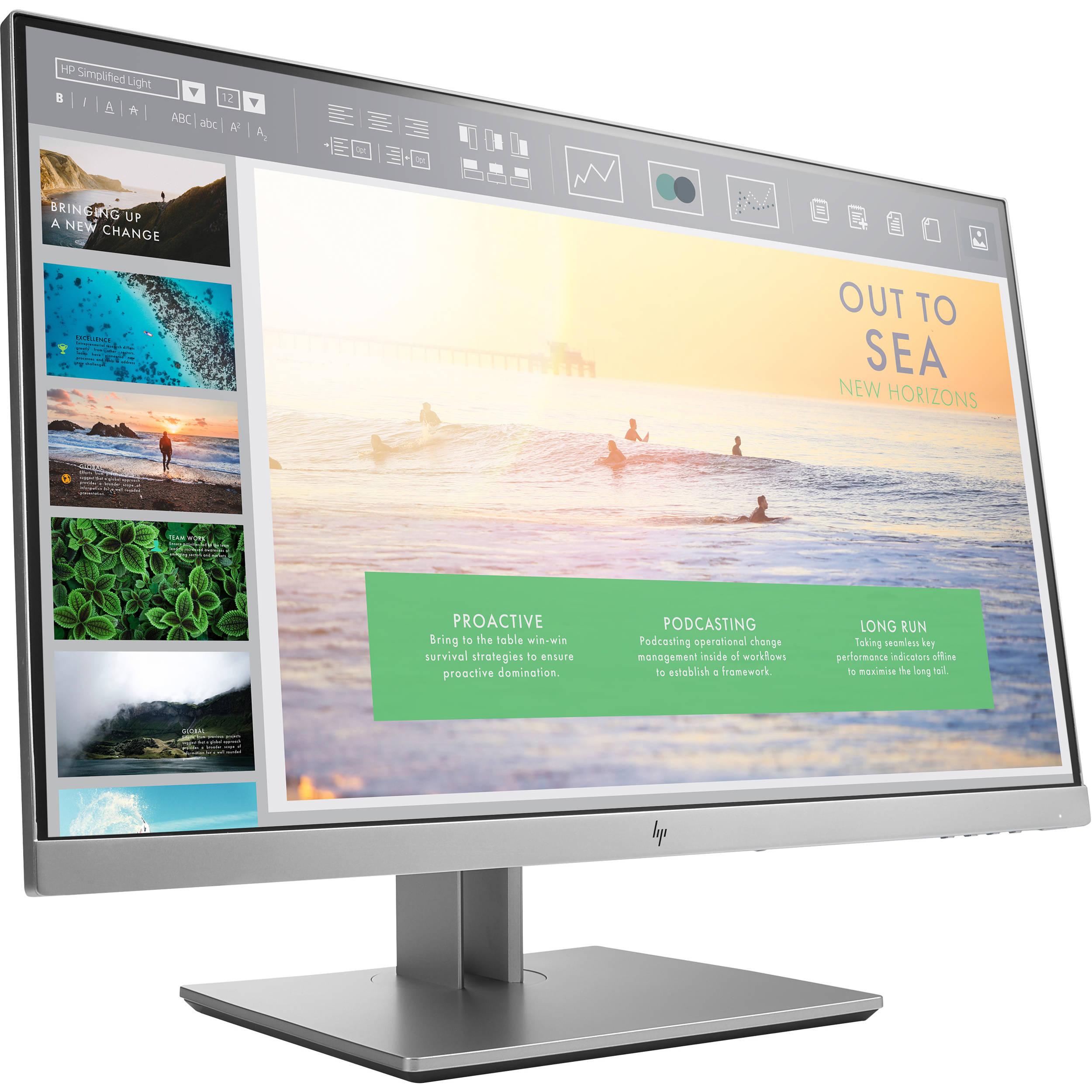 hp e233 elitedisplay 23 16 9 ips monitor 1fh46a8 aba b h. Black Bedroom Furniture Sets. Home Design Ideas