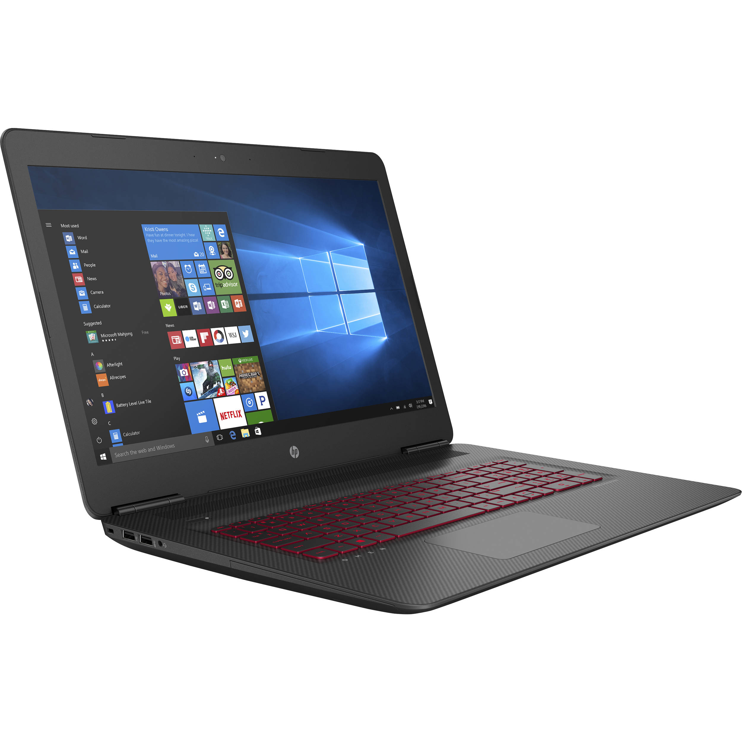 hp 17 3 omen 17 w210nr gaming laptop 1ql51ua aba b h photo