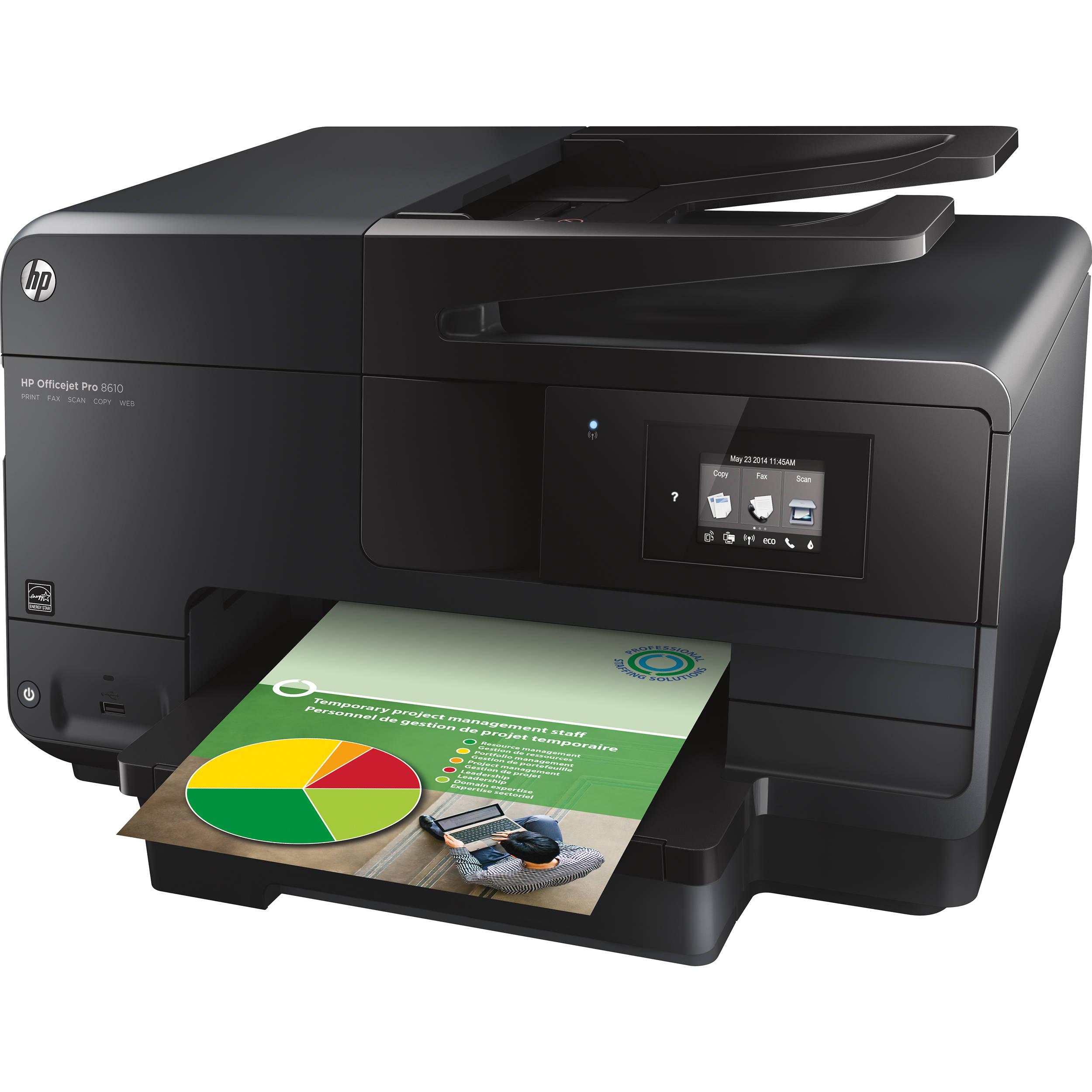 Officejet Pro 8610 e-All-in-One Wireless Color Inkjet Printer