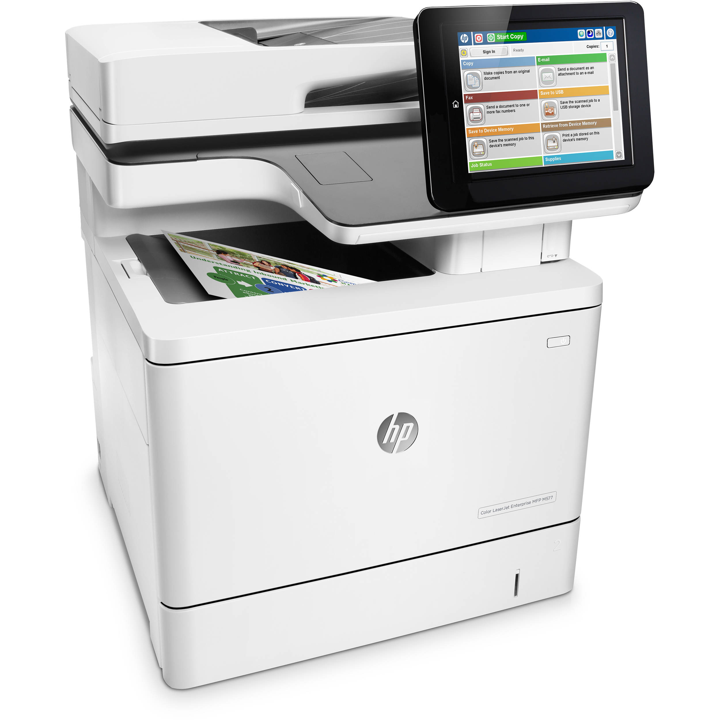 HP Color LaserJet Enterprise M577f All-in-One Laser Printer