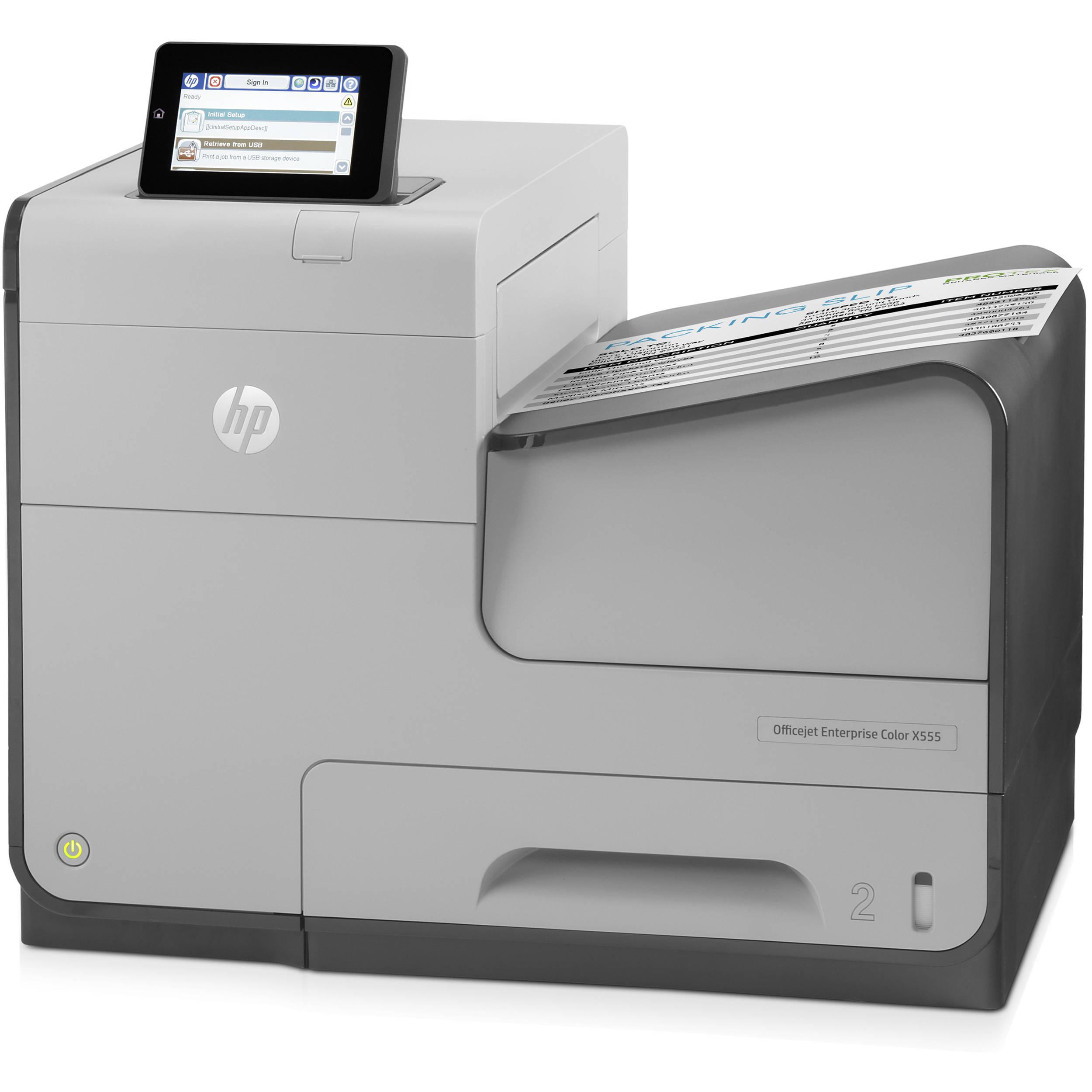 HP Officejet Enterprise X555dn Color Inkjet Printer C2S11ABGJ