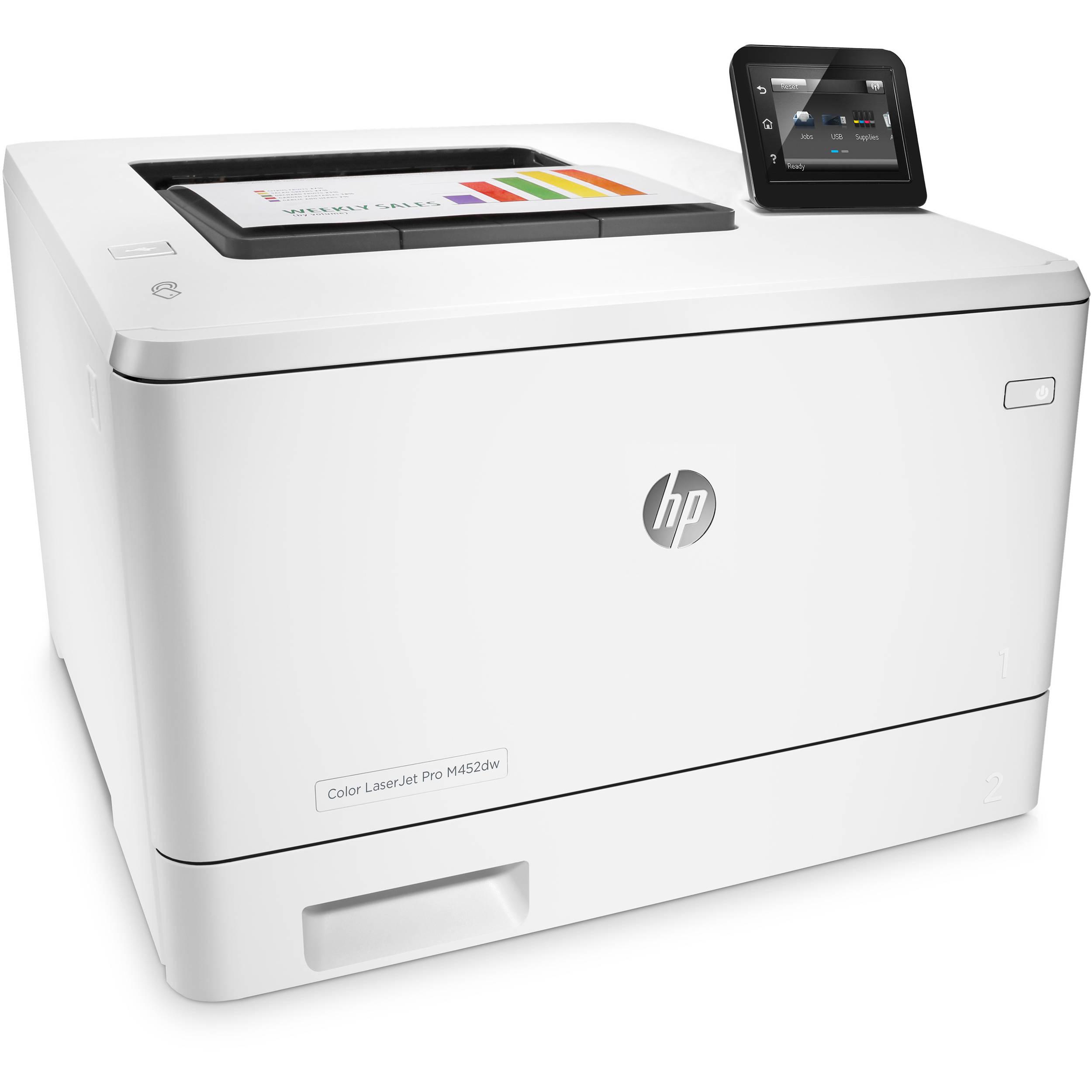 HP Color LaserJet Pro M452dw Laser Printer CF394A BampH Photo