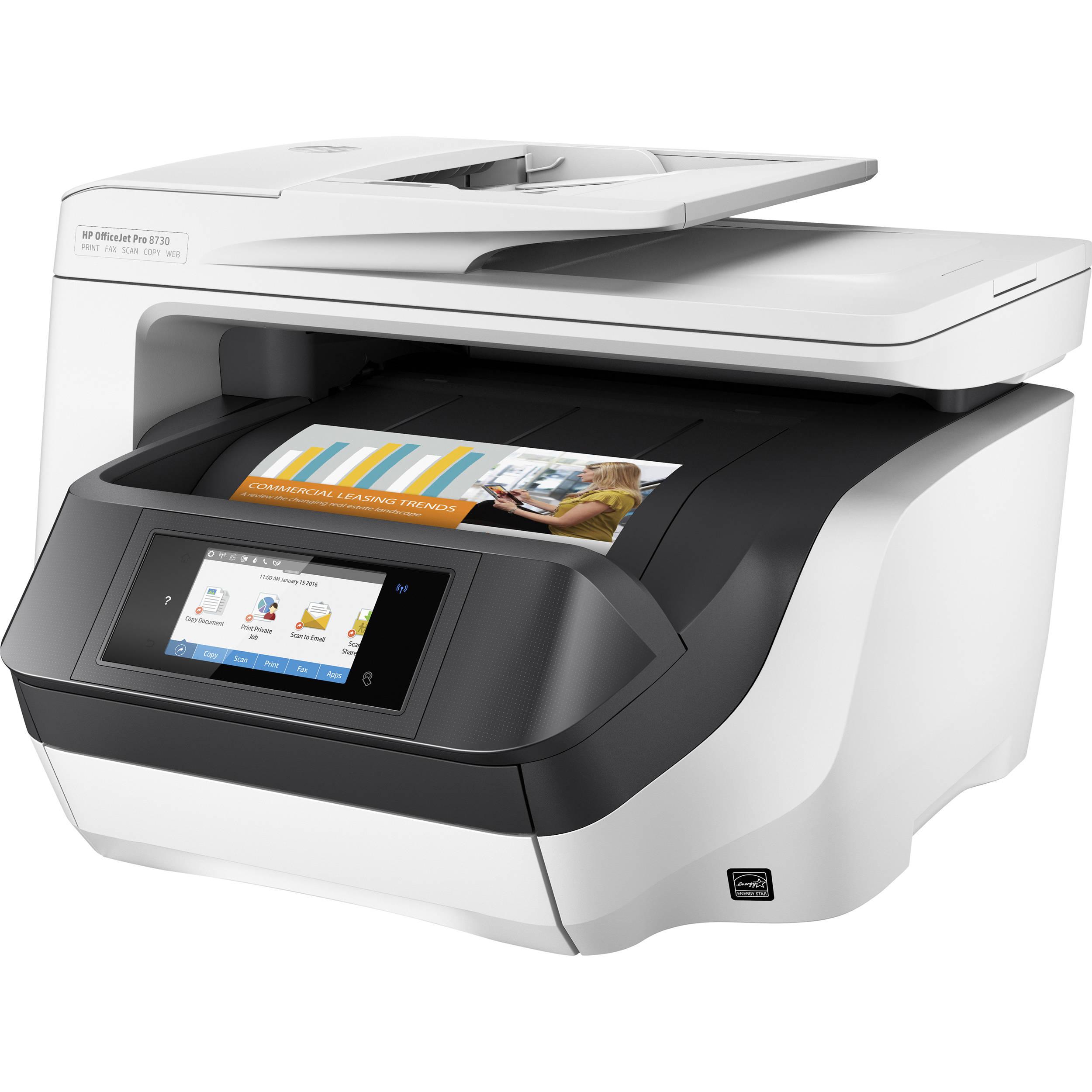 hp officejet pro 8730 all in one inkjet printer d9l20a b1h b h. Black Bedroom Furniture Sets. Home Design Ideas