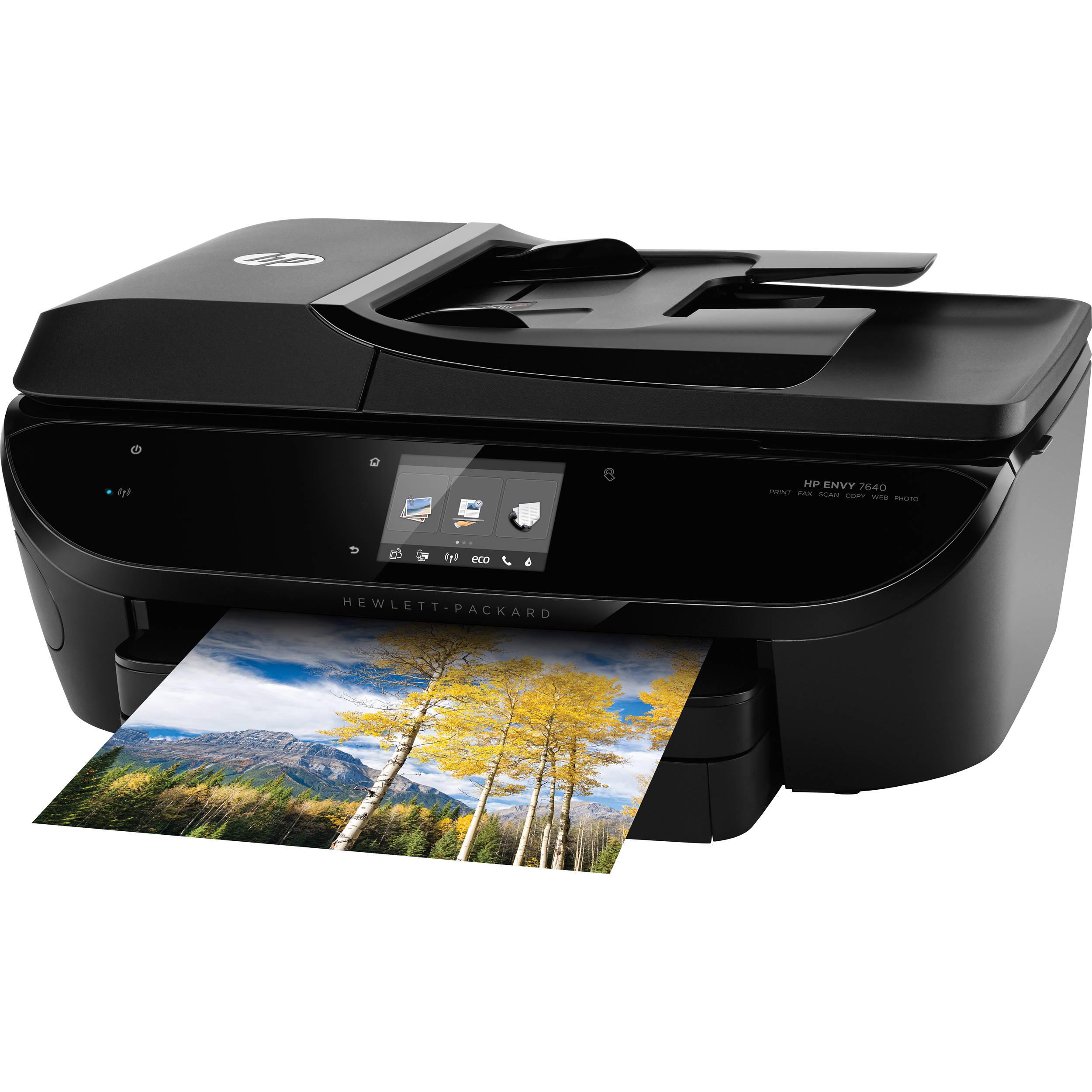 hp envy 7640 e all in one inkjet printer e4w43a b1h b h photo. Black Bedroom Furniture Sets. Home Design Ideas