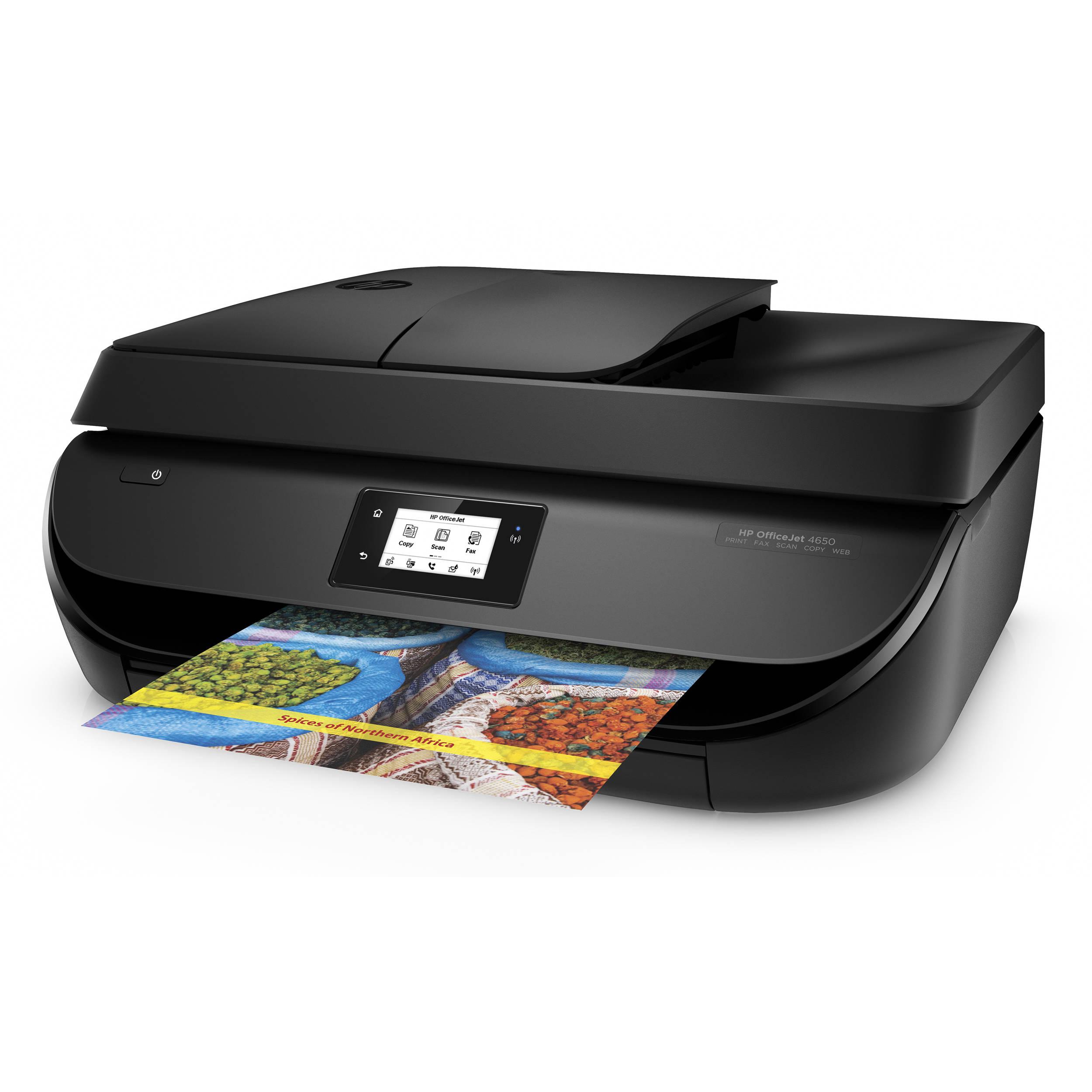 HP OfficeJet 4650 All-in-One Inkjet Printer F1J03A#B1H B&H ...