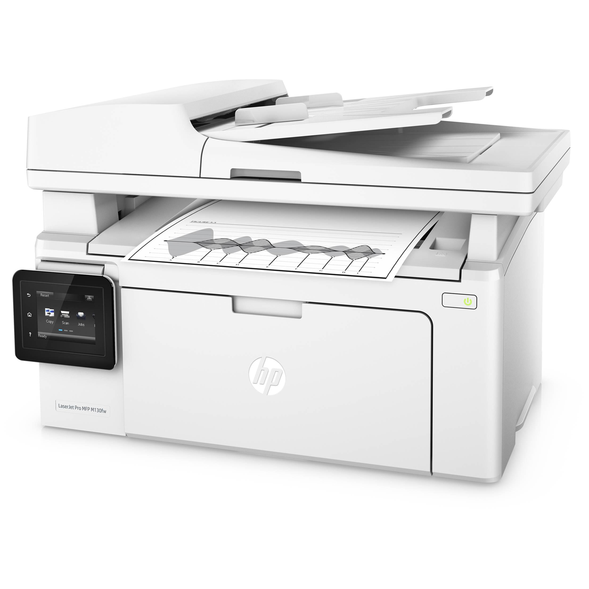 54510b9791ab HP LaserJet Pro M130fw All-in-One Monochrome Laser Printer