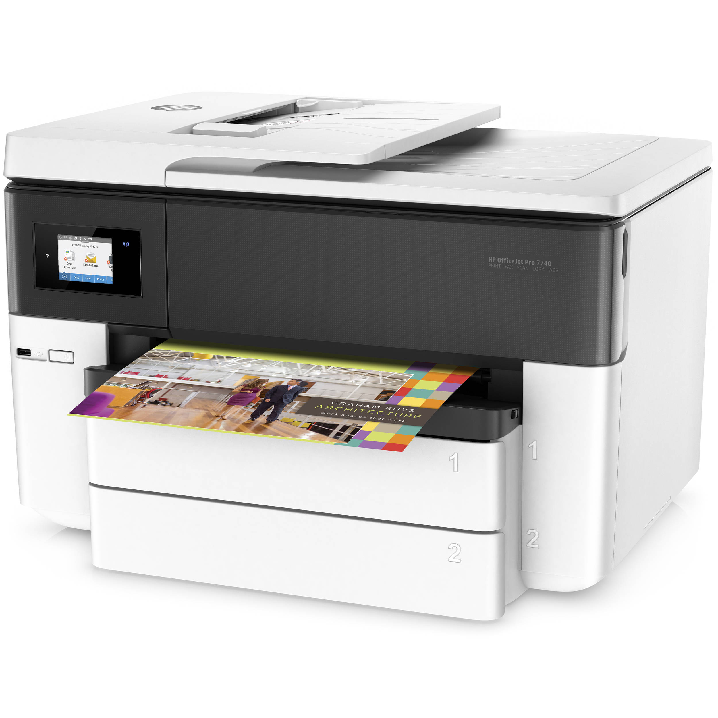in e wireless officejet view premium one dp office jet front hp all amazon com color