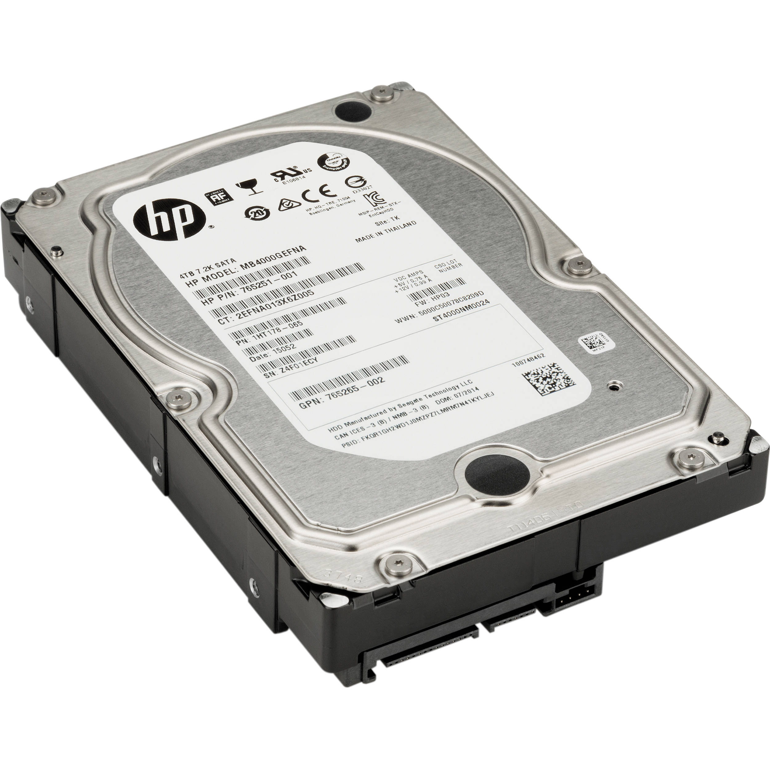 HP 4TB 7200 rpm SATA Hard Drive K4T76AA B&H Photo Video