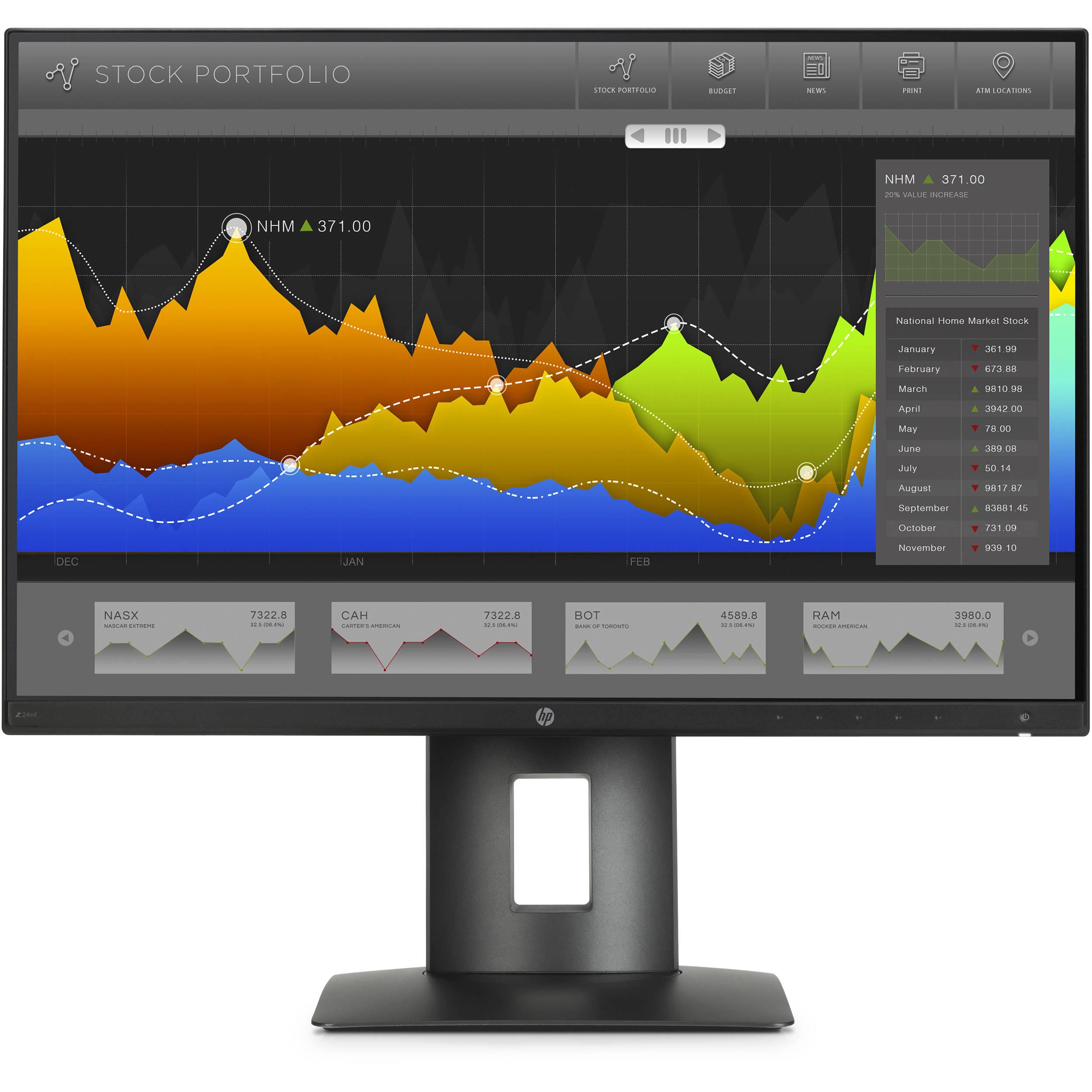 hp z24nf 23 8 16 9 narrow bezel ips monitor k7c00a8 aba. Black Bedroom Furniture Sets. Home Design Ideas