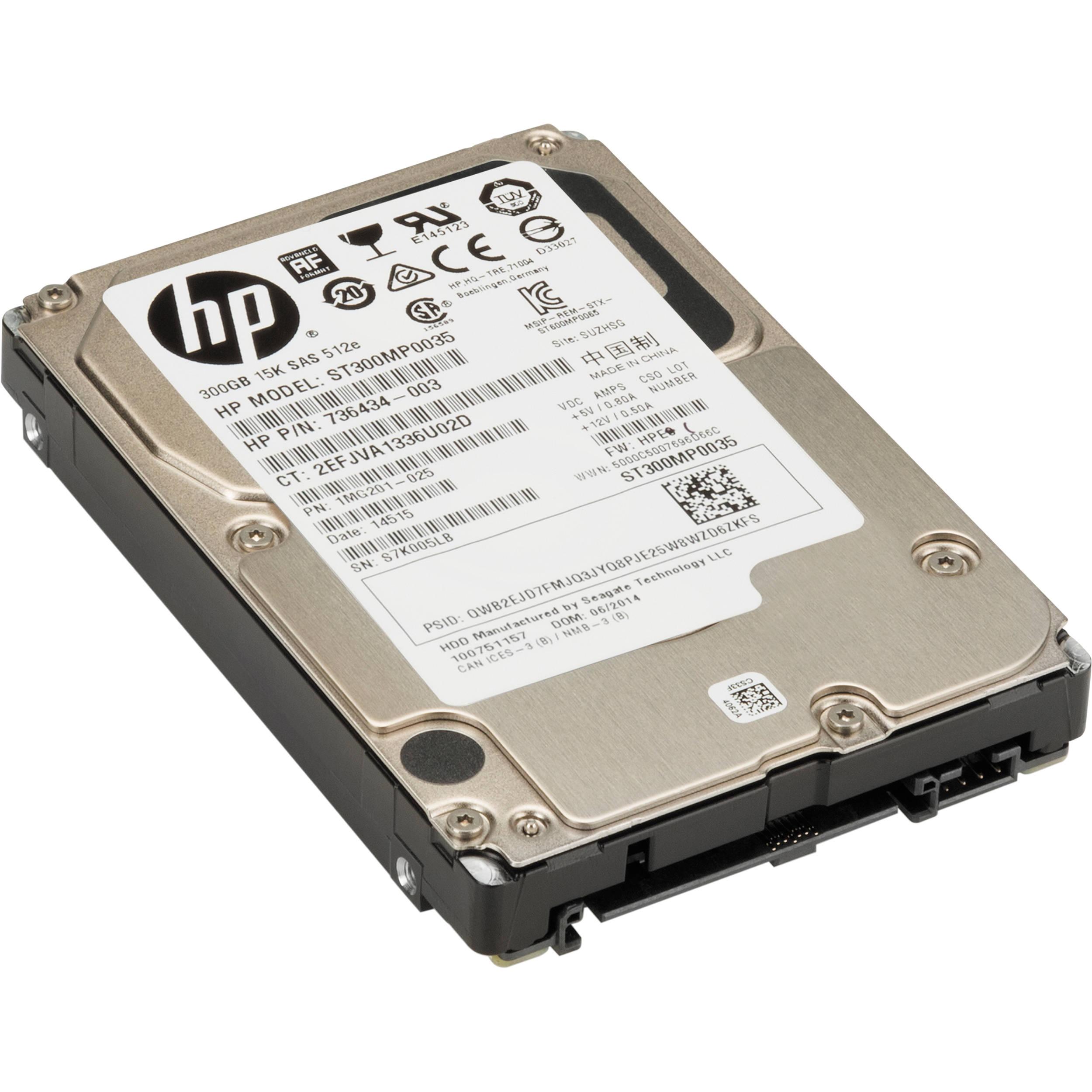 HP 300GB SAS 15K Small Form Factor Hard Drive L5B74AA B&H Photo