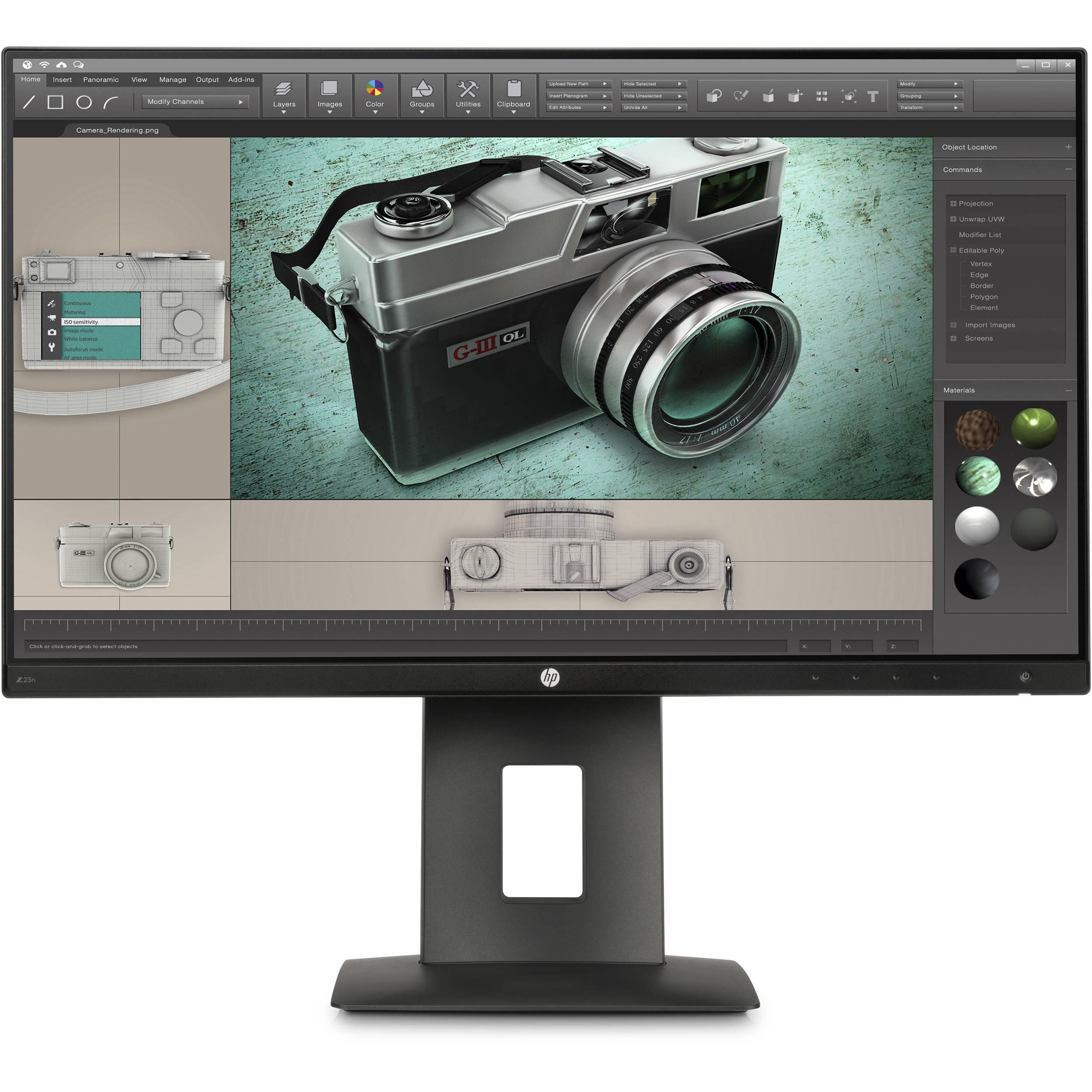 hp z23n 23 16 9 ips monitor m2j79a4 aba b h photo video. Black Bedroom Furniture Sets. Home Design Ideas