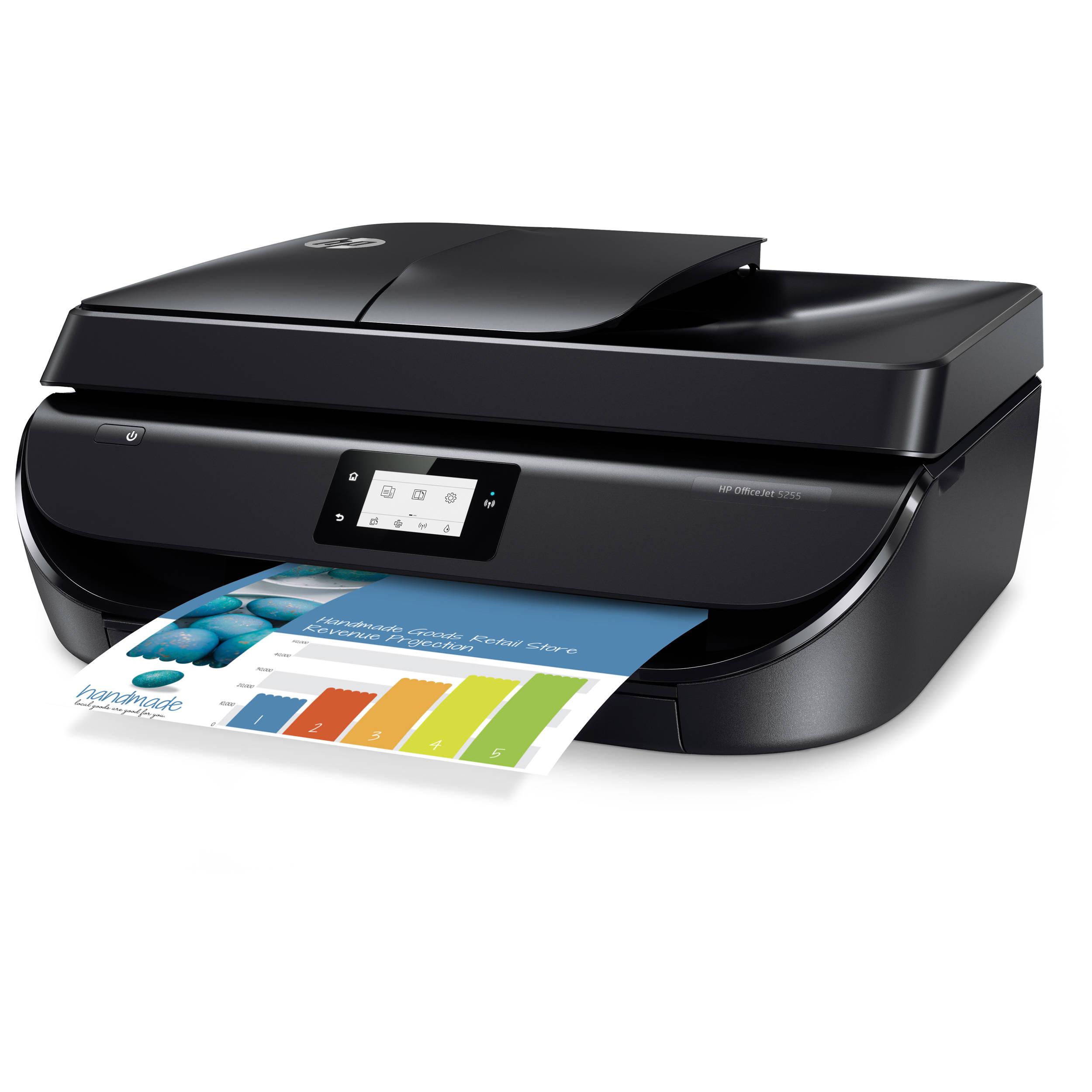 Hp Officejet 5255 All In One Inkjet Printer M2u75a B H Photo