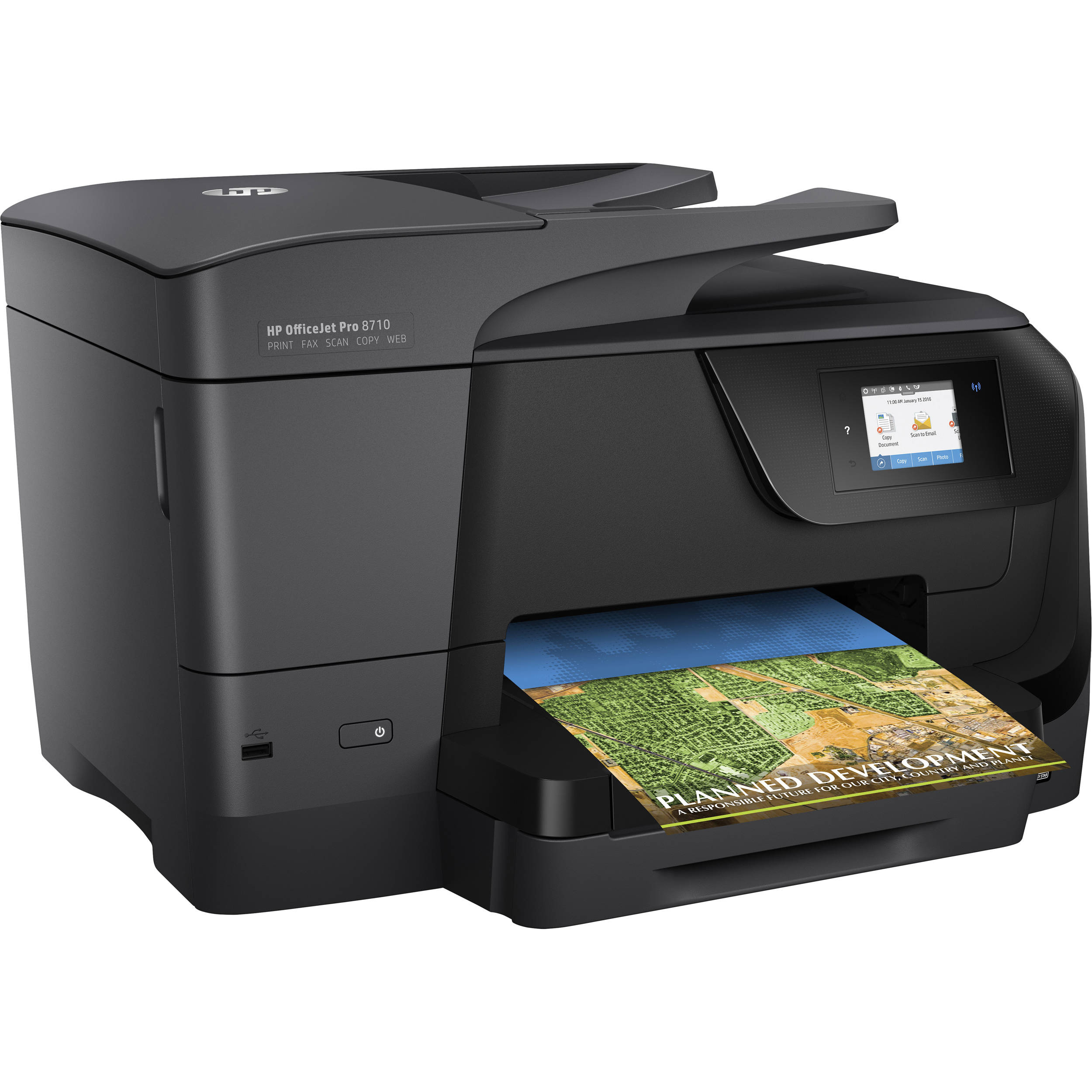 New HP OfficeJet Pro 8710 All-in-One Inkjet Wireless Printer Scan Copy Fax AIO