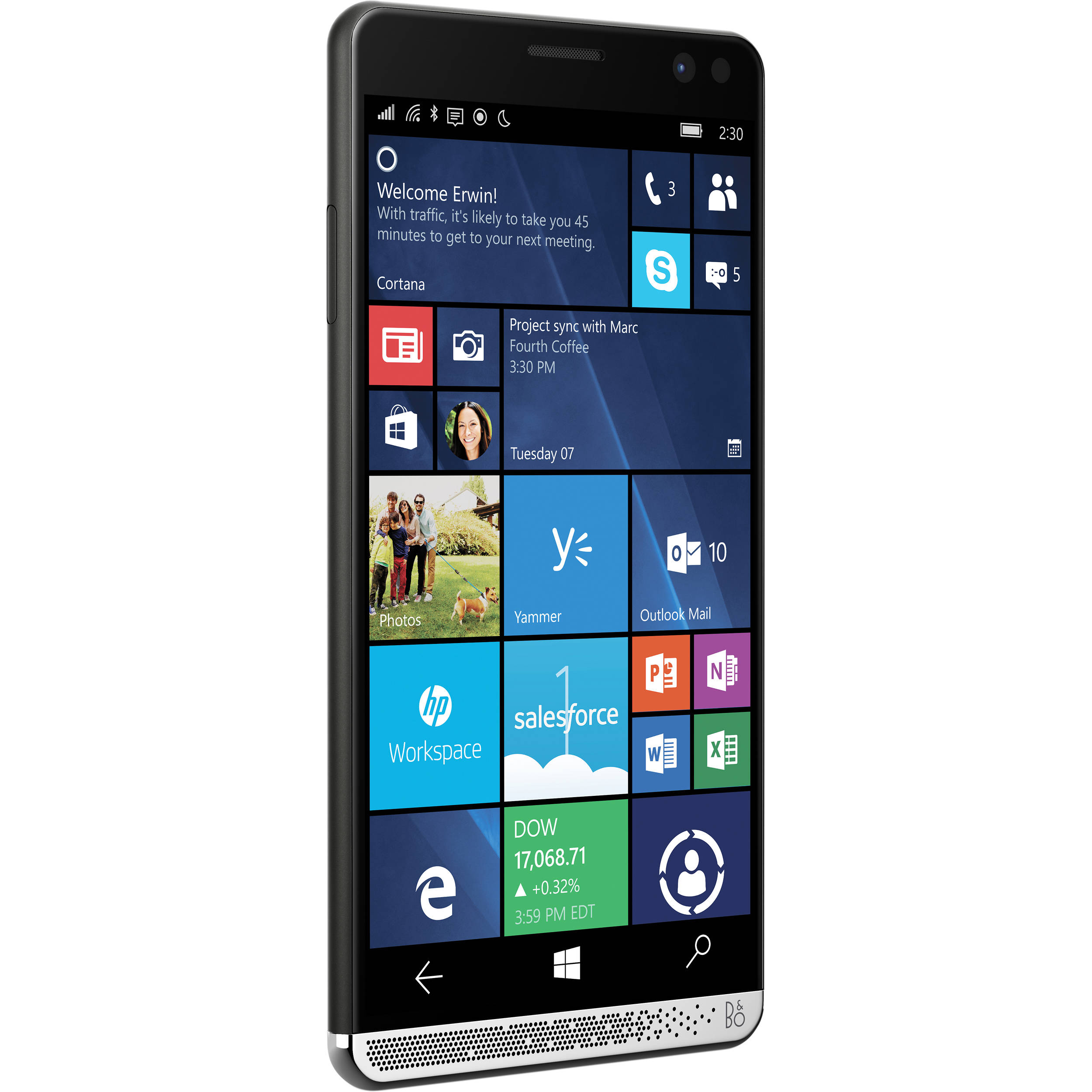 hp elite x3 x9u42ut 64gb smartphone unlocked black. Black Bedroom Furniture Sets. Home Design Ideas