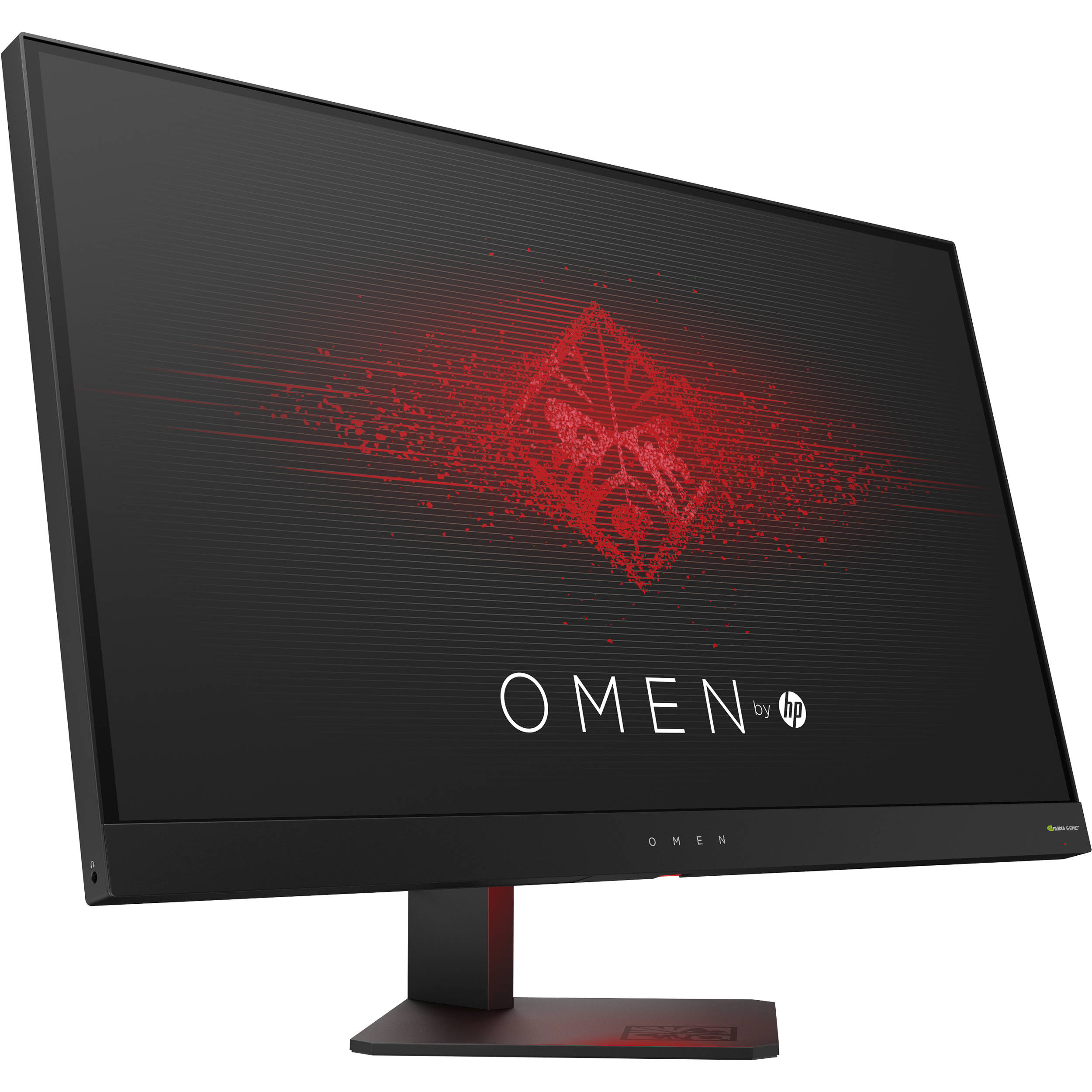 hp omen 27 16 9 lcd gaming monitor z4d33aa aba b h photo. Black Bedroom Furniture Sets. Home Design Ideas