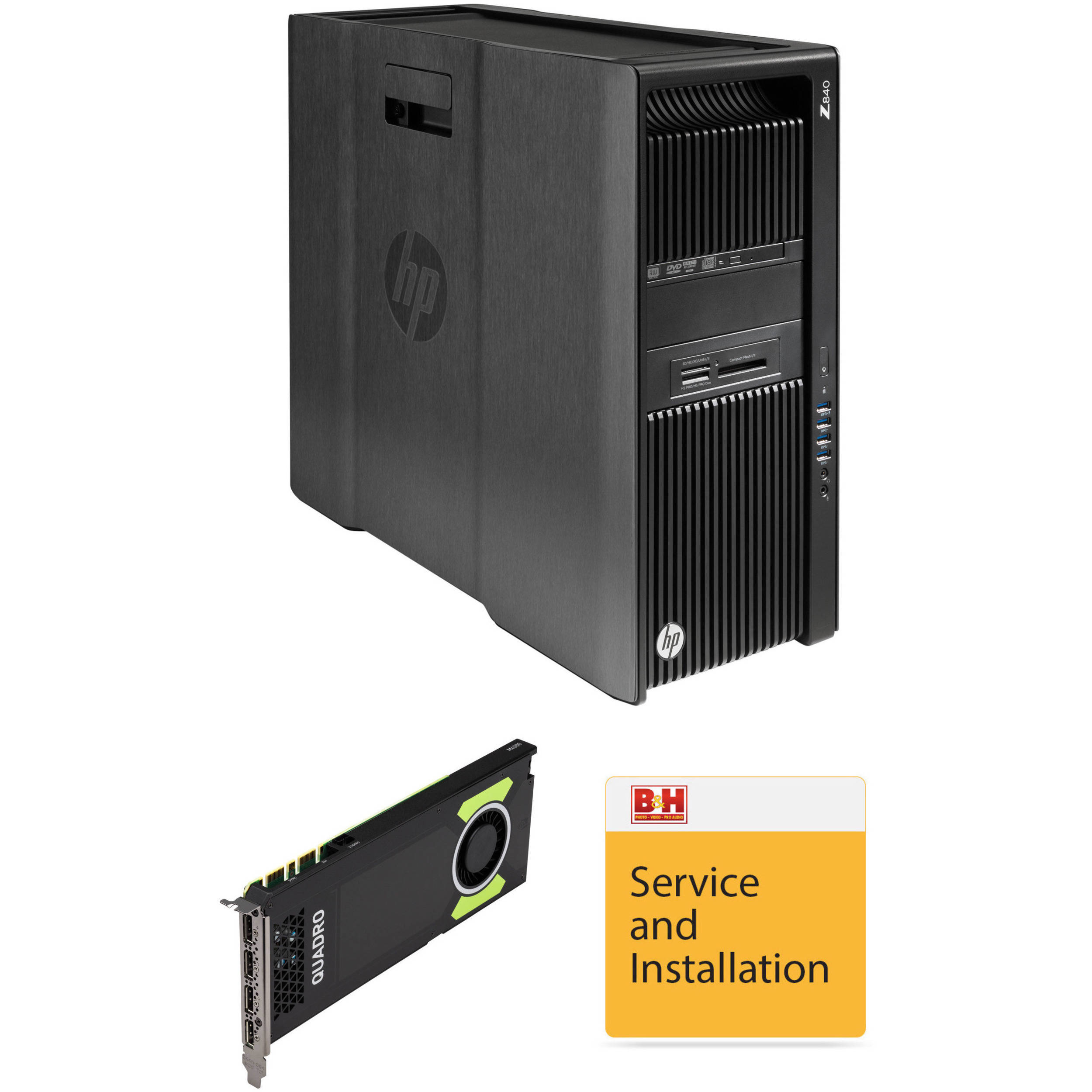 HP Z840 L0P81UT Turnkey Workstation with Quadro M4000 Graphics