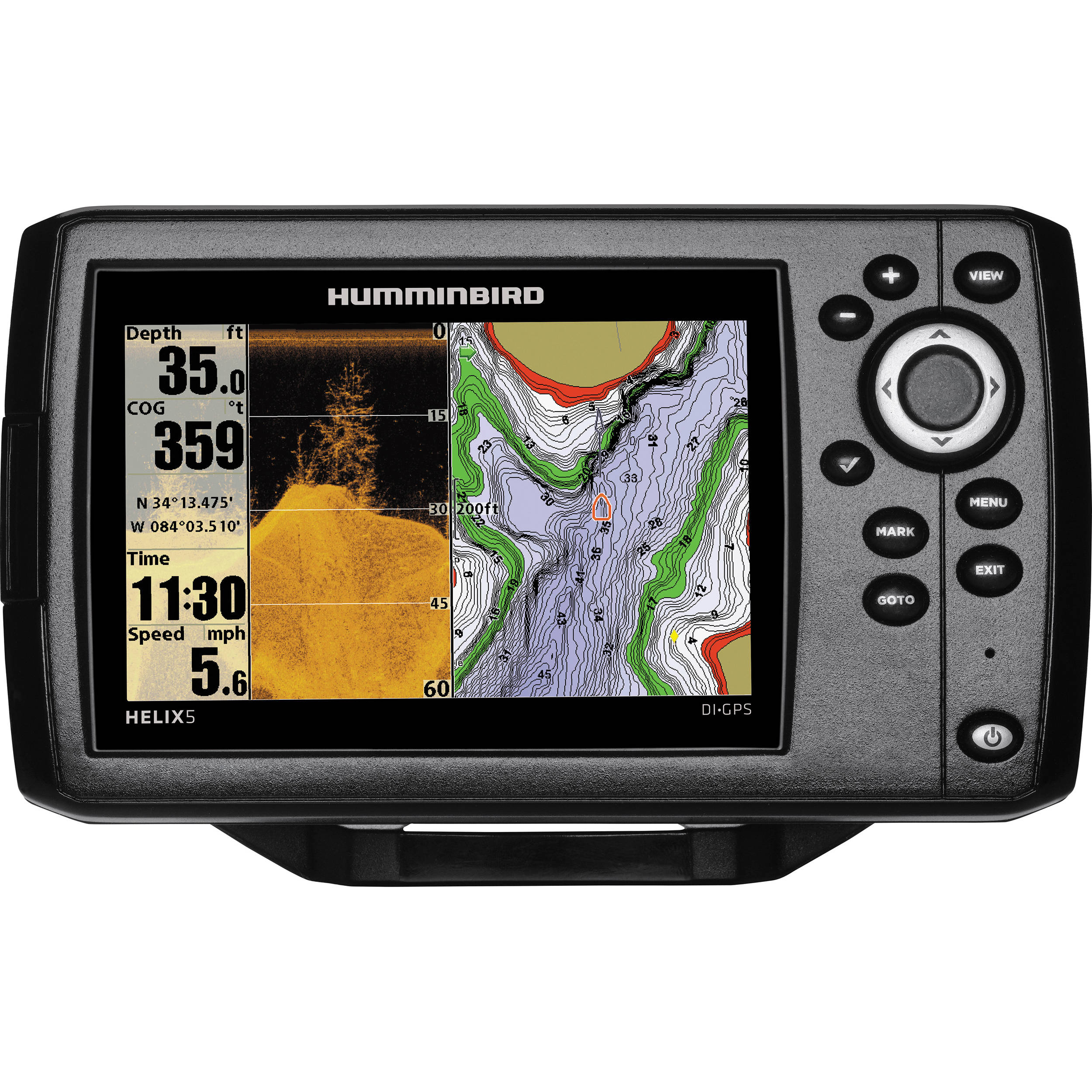 humminbird helix 5 di gps fishfinder 409620-1 b&h photo video, Fish Finder