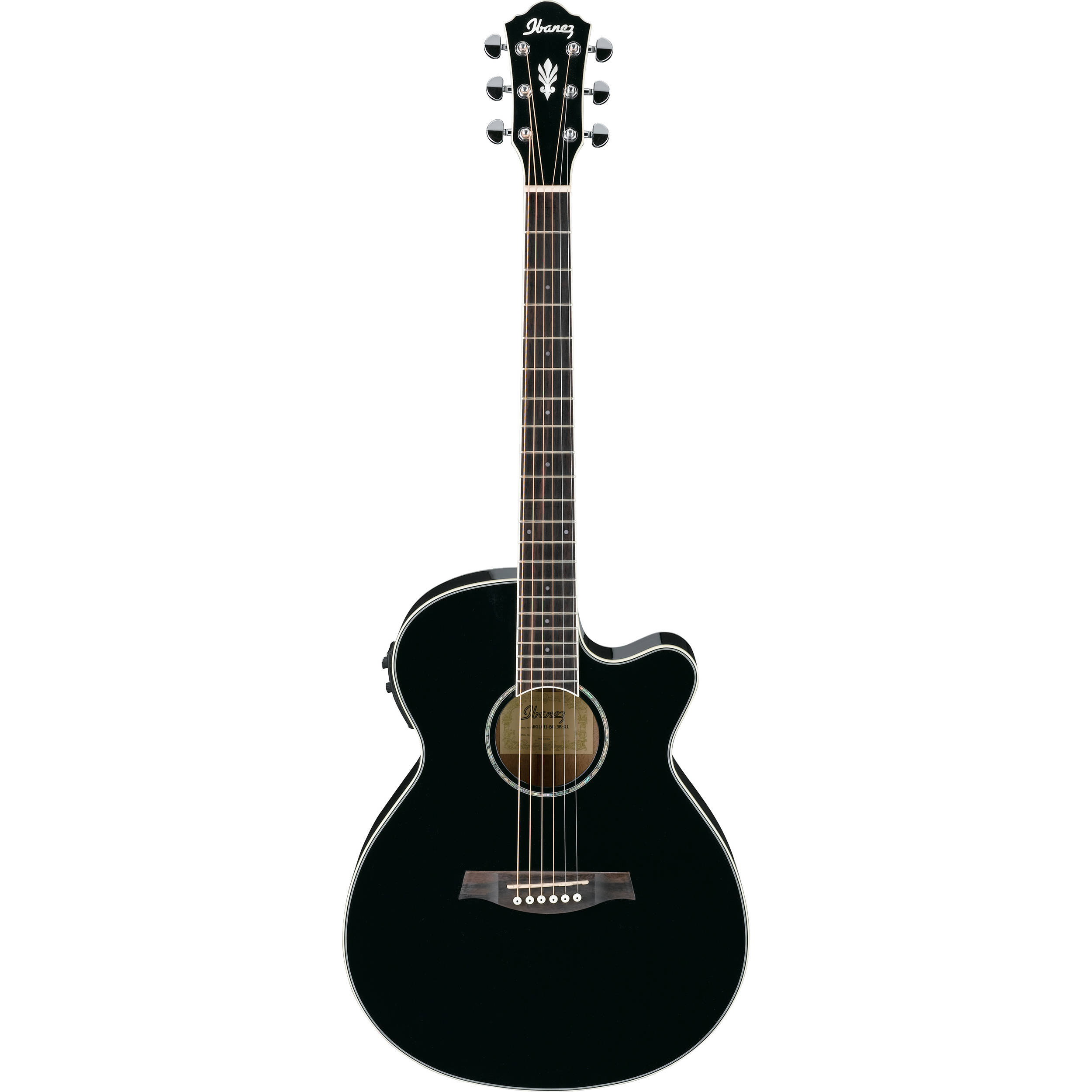 Ibanez Aeg10ii Acoustic Electric Guitar Black Aeg10iibk B H