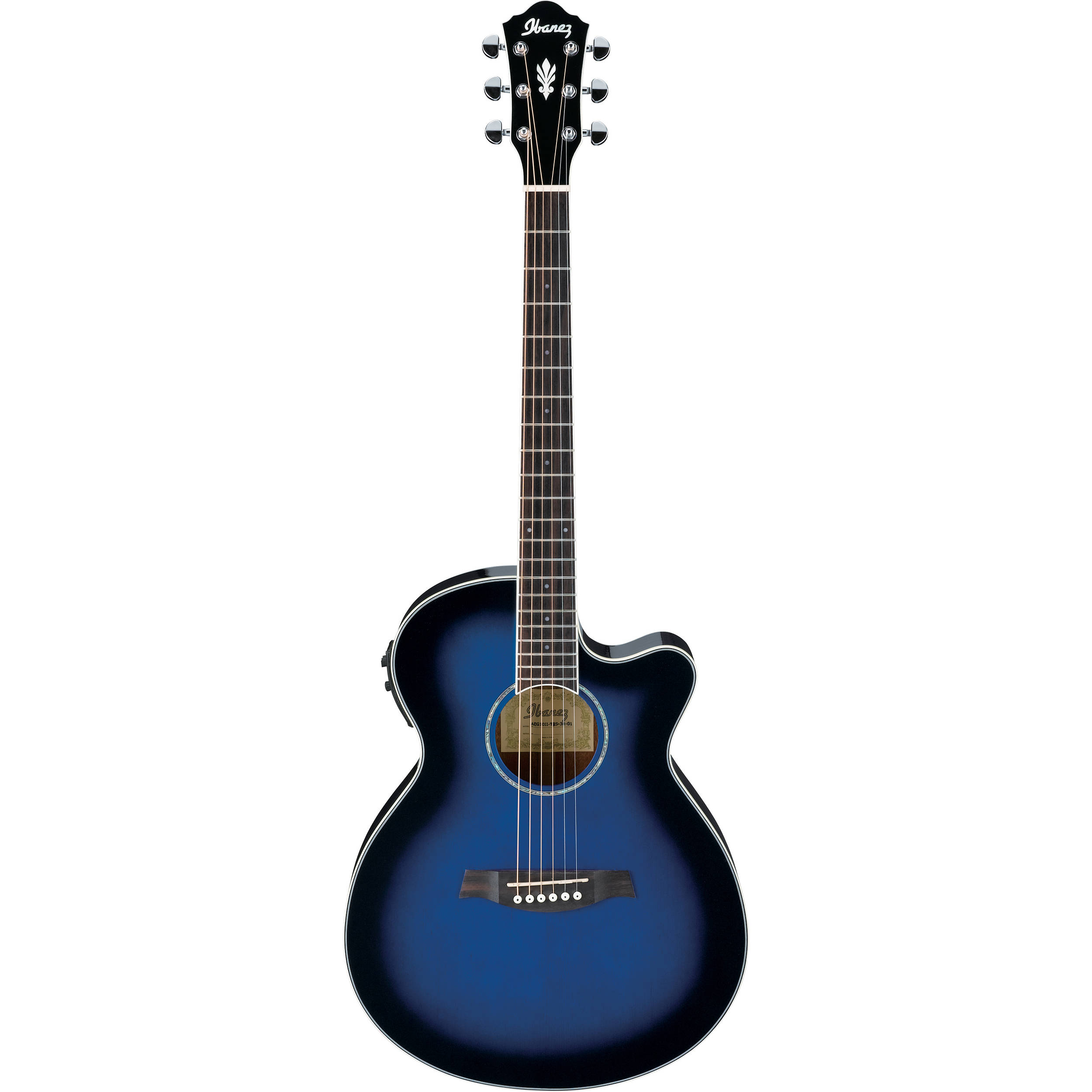 ibanez aeg10ii acoustic electric guitar aeg10iitbs b h photo. Black Bedroom Furniture Sets. Home Design Ideas
