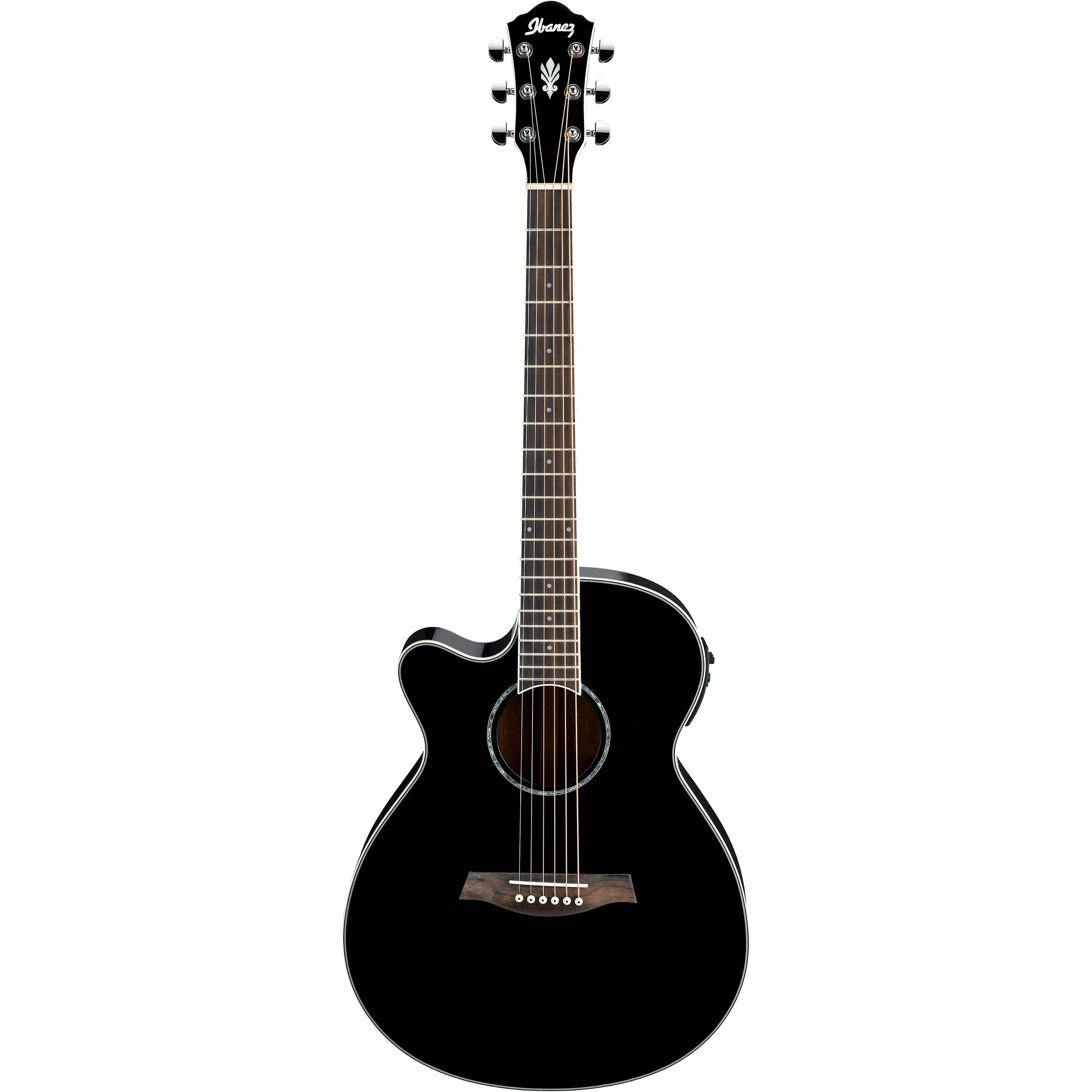 ibanez aeg10lii acoustic electric guitar aeg10liibk b h photo. Black Bedroom Furniture Sets. Home Design Ideas