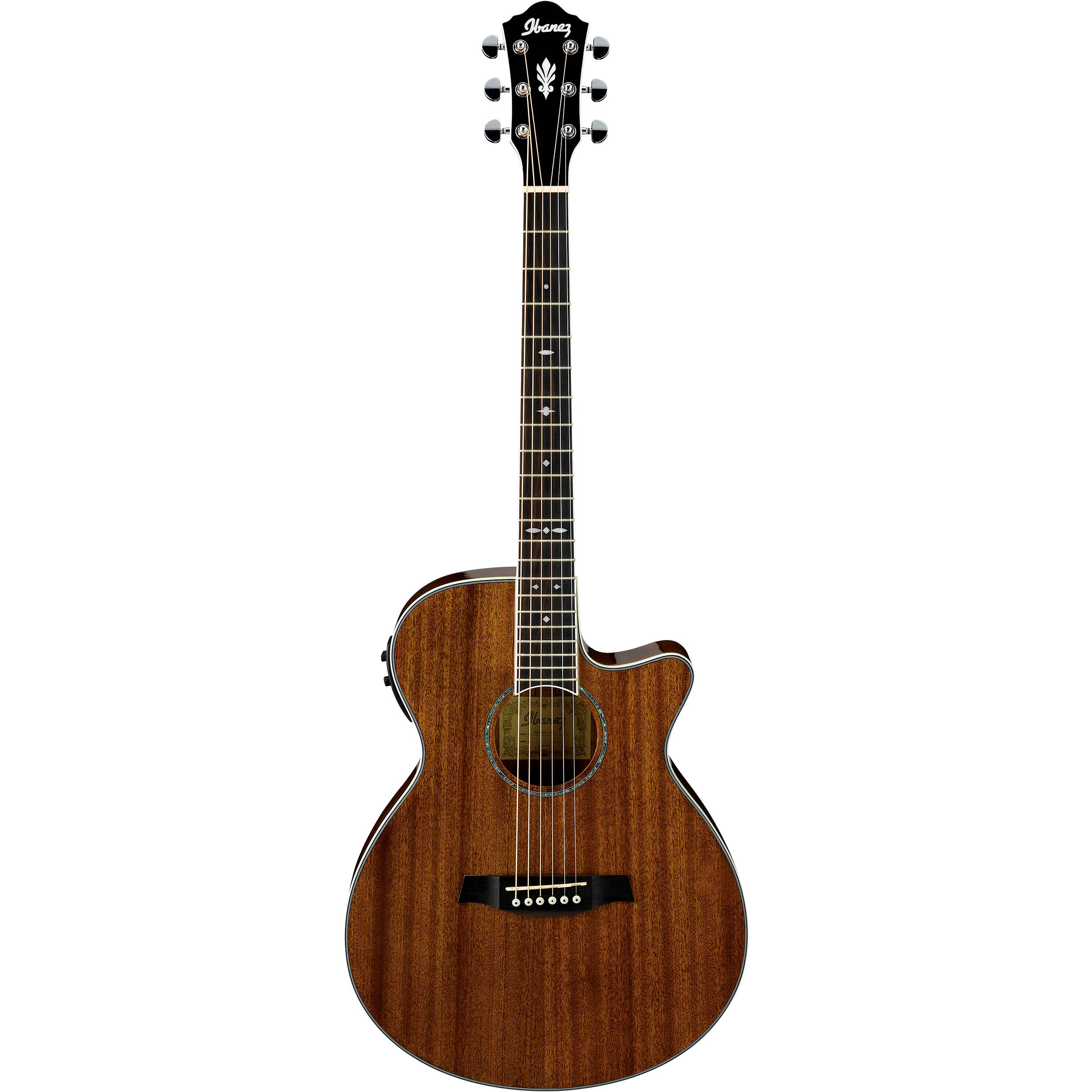 ibanez aeg12ii acoustic electric guitar natural aeg12iint b h. Black Bedroom Furniture Sets. Home Design Ideas