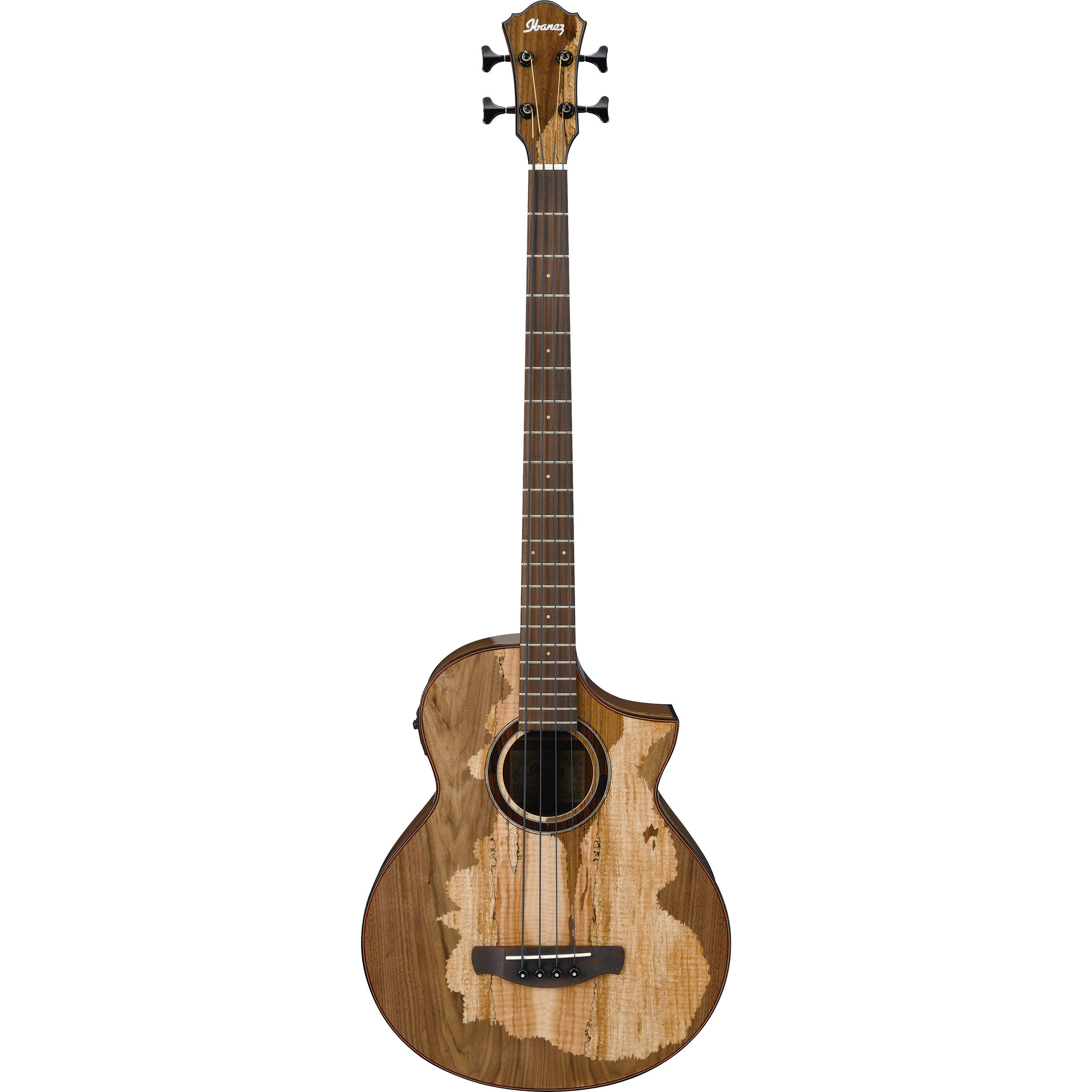ibanez aewb50 exotic wood series acoustic electric bass aewb50nt. Black Bedroom Furniture Sets. Home Design Ideas