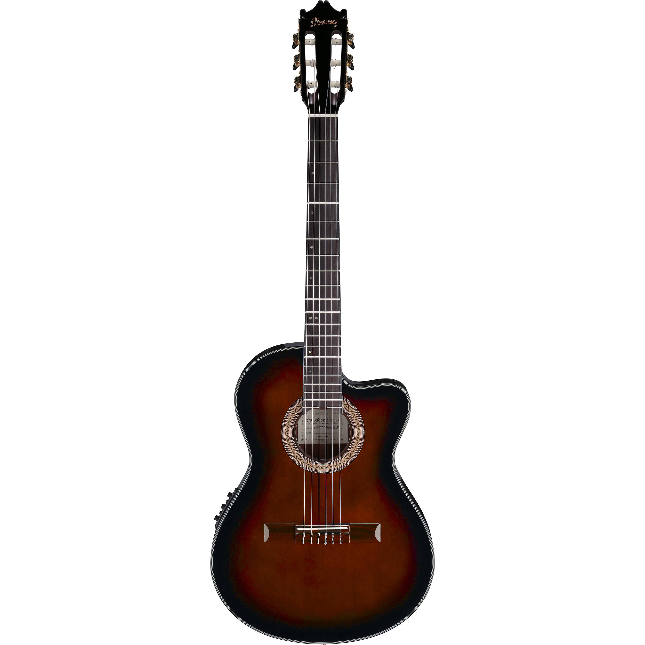 ibanez ga35tce acoustic electric thin line classical ga35tcedvs. Black Bedroom Furniture Sets. Home Design Ideas