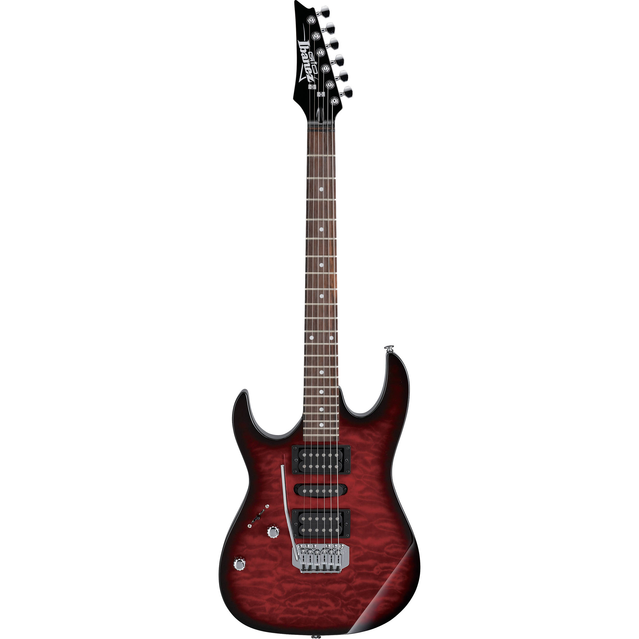 ibanez grx70qal gio series electric guitar grx70qatrbl b h photo. Black Bedroom Furniture Sets. Home Design Ideas