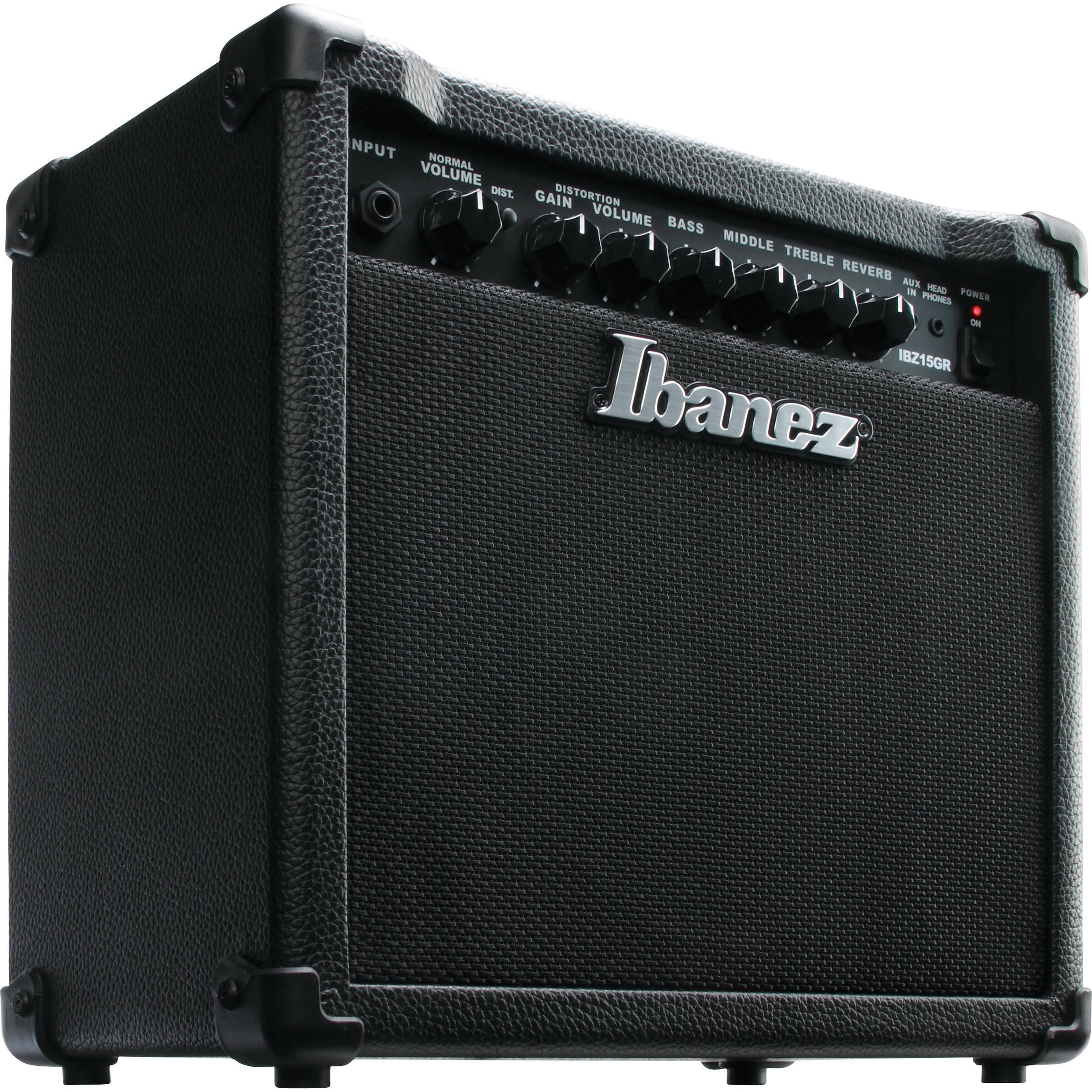 ibanez ibz15gr 15w guitar combo amplifier ibz15gr b h photo video. Black Bedroom Furniture Sets. Home Design Ideas