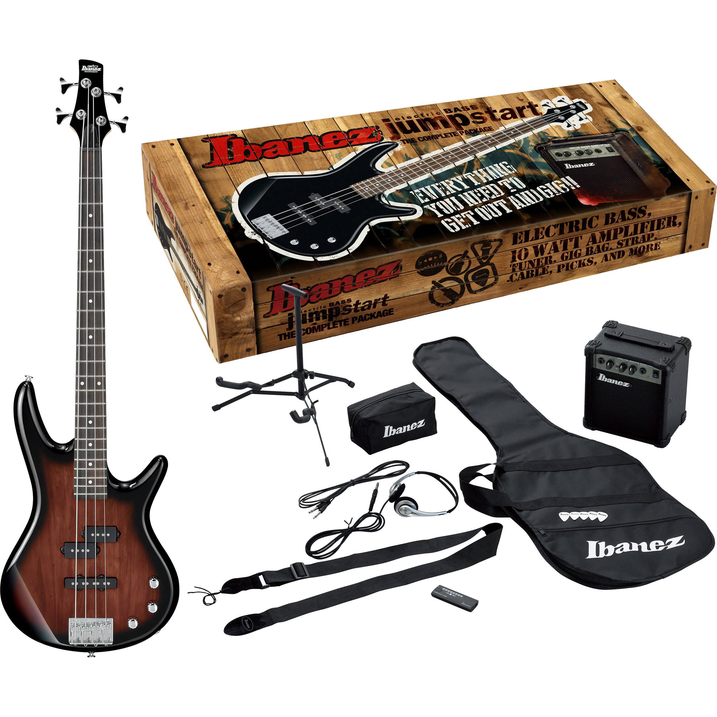 ibanez ijxb150 jumpstart 4 string bass package ijxb150bwns b h. Black Bedroom Furniture Sets. Home Design Ideas