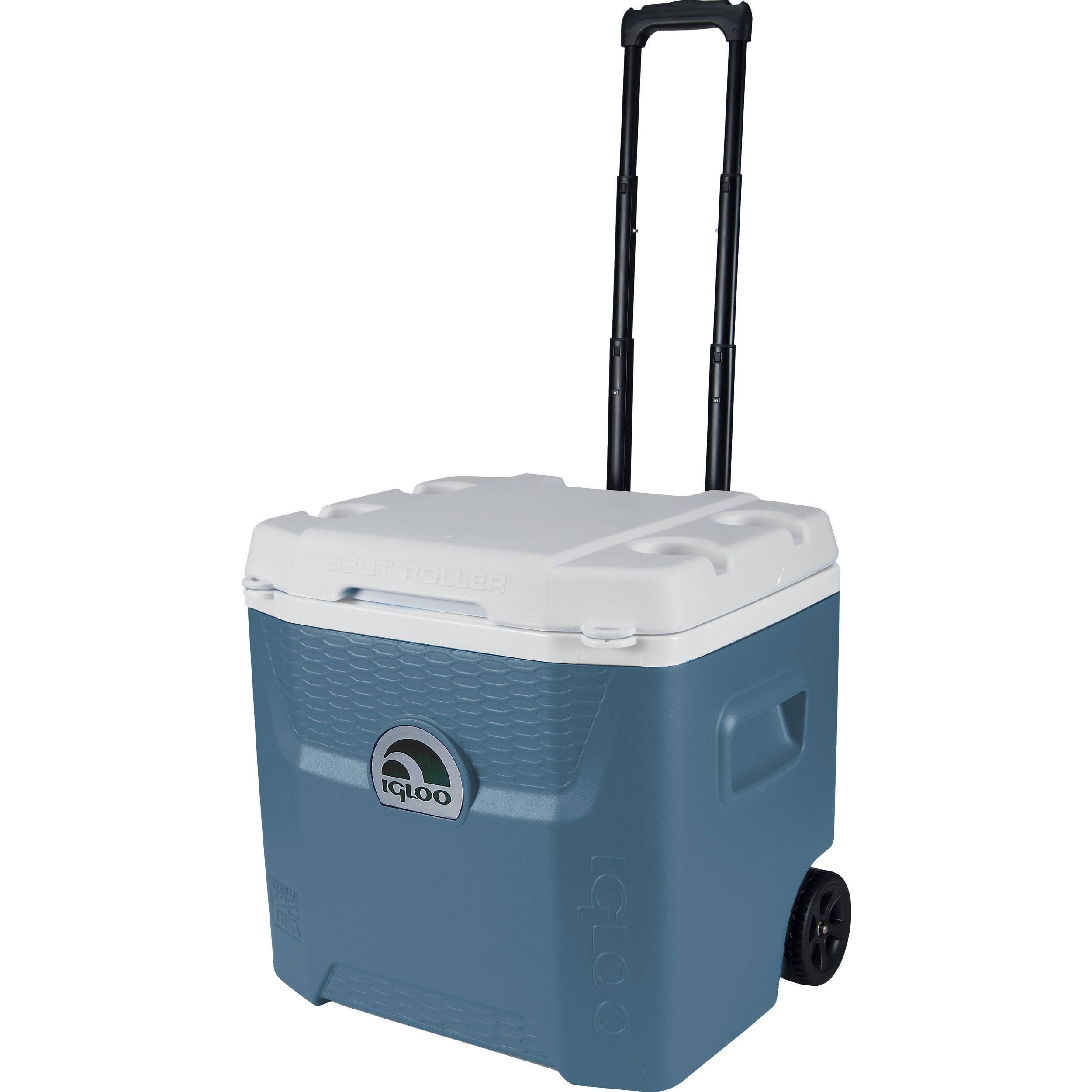 Igloo Maxcold Quantum 52 Quart Roller Wheeled Cooler 45915 B Amp H