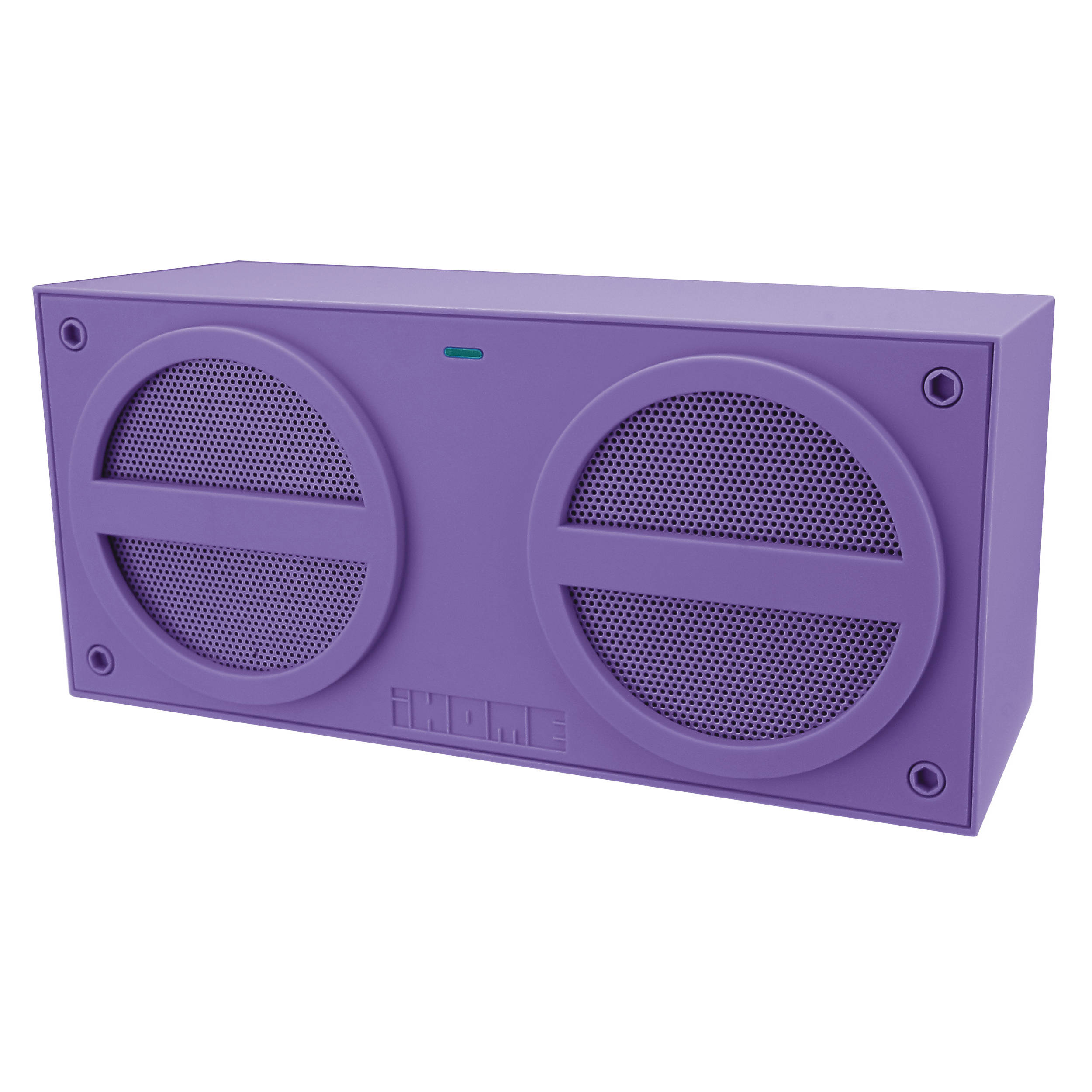 Ihome Bluetooth Rechargeable Stereo Mini Speaker In Ibn24ux Bh Plastic Smart Bracelet Circuit Board With High Rubberized Finish Purple