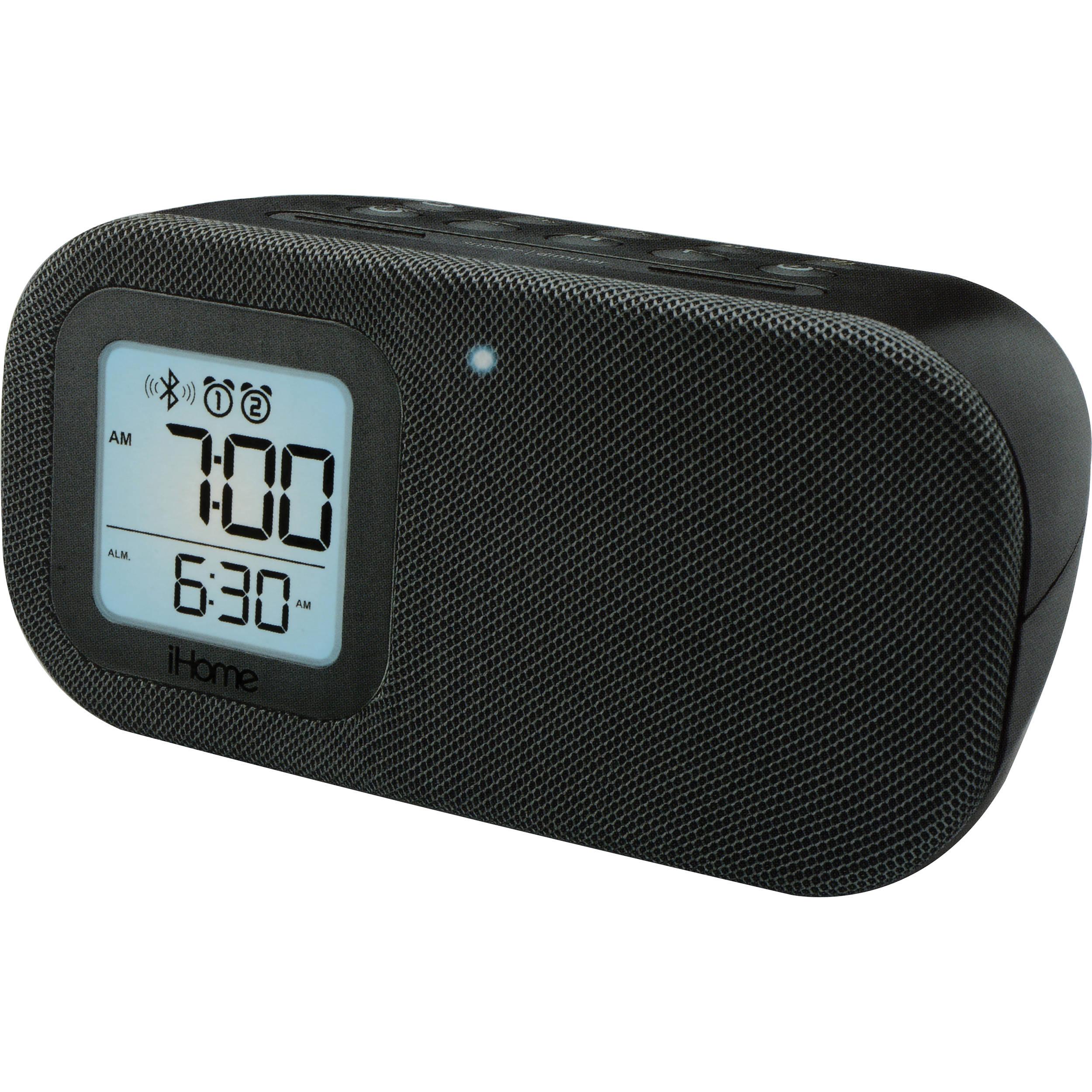 b57b694e7f1 Used iHome iBT21 Bluetooth Bedside Dual Alarm Clock IBT21BC B H
