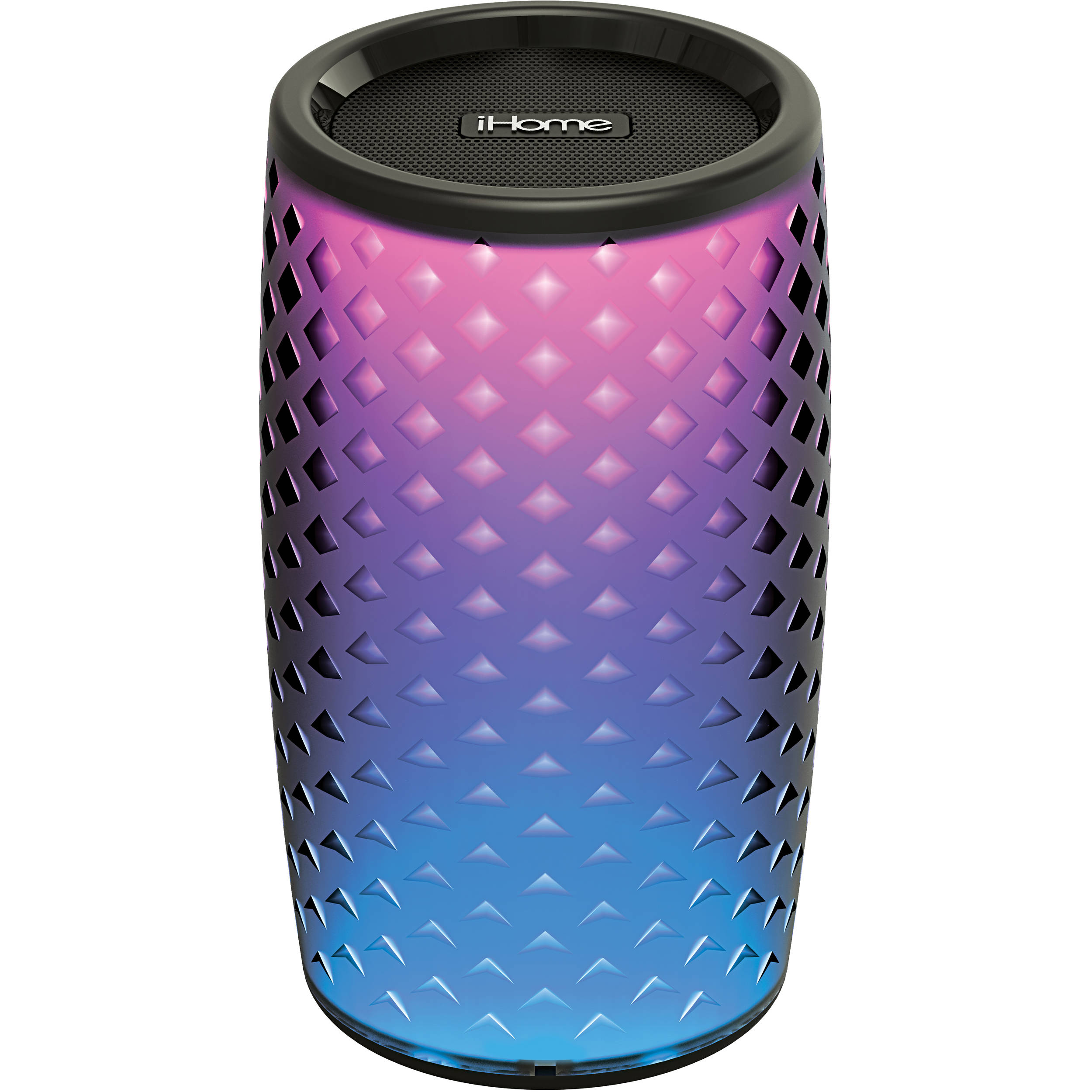 iHome iBT8v8B Color Changing Rechargeable Bluetooth Speaker