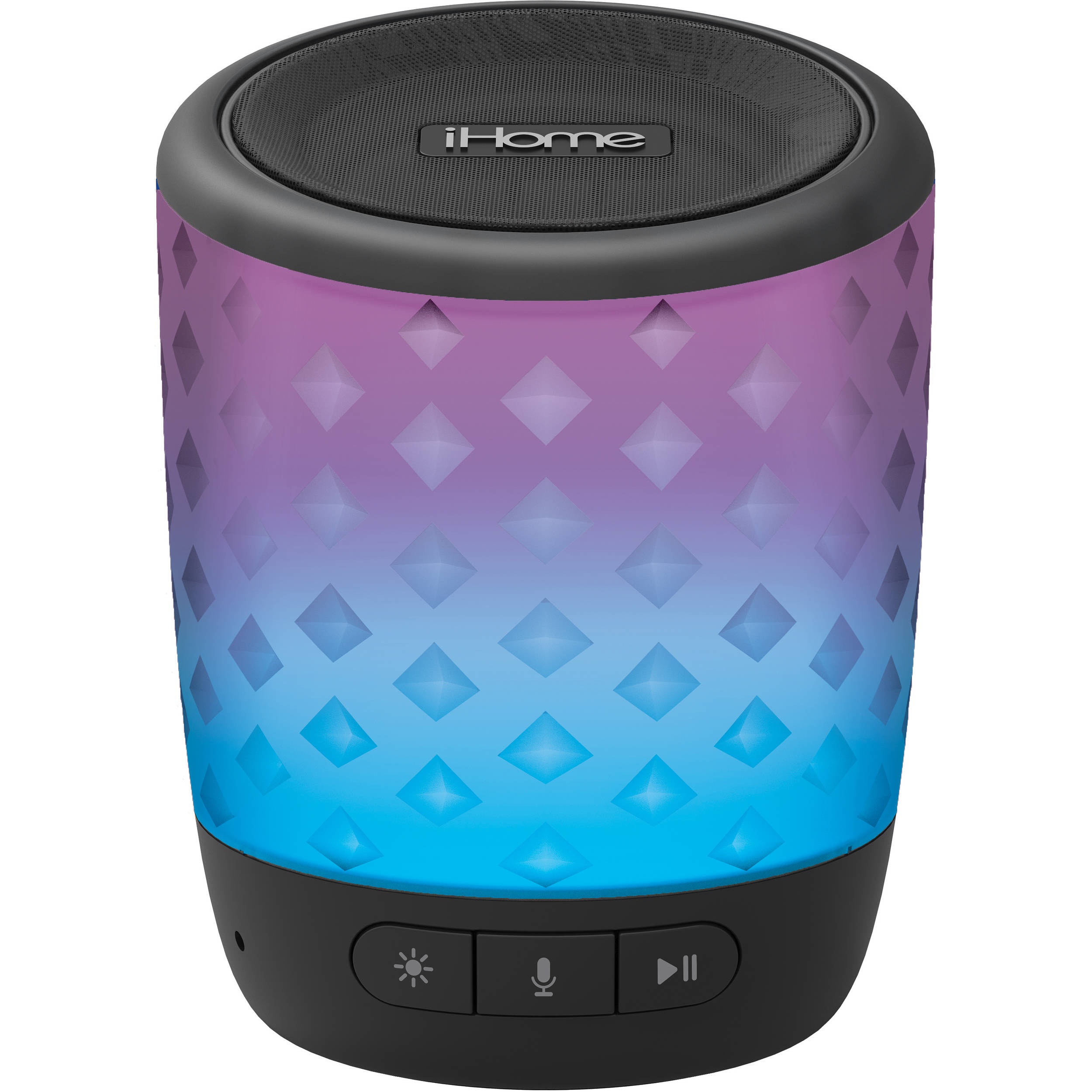 Ihome Bluetooth Portable Speaker: IHome IBT81B Color Changing Rechargeable Bluetooth Speaker