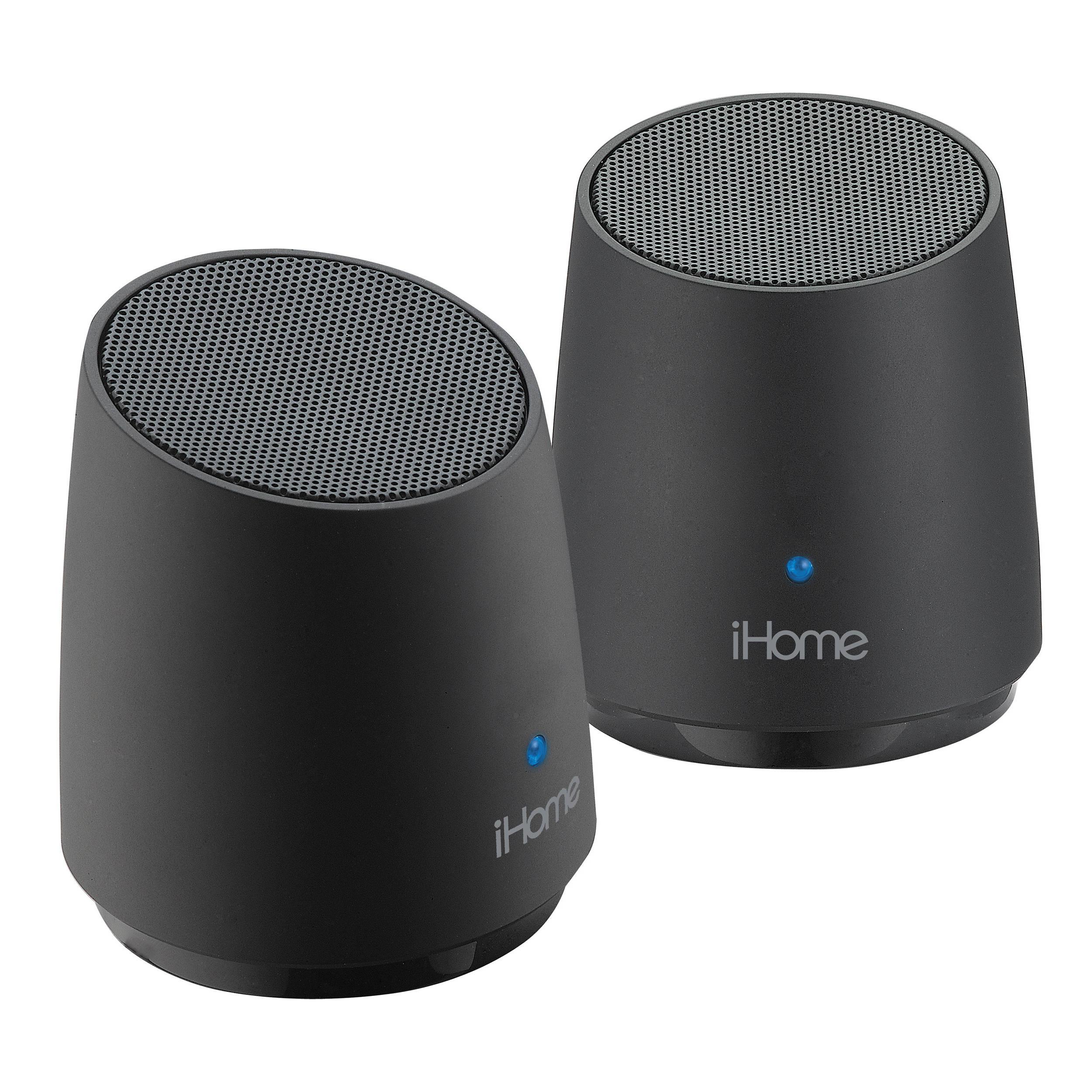 Ihome Ihm89 Rechargeable Mini Speakers Black Ihm89bc B H